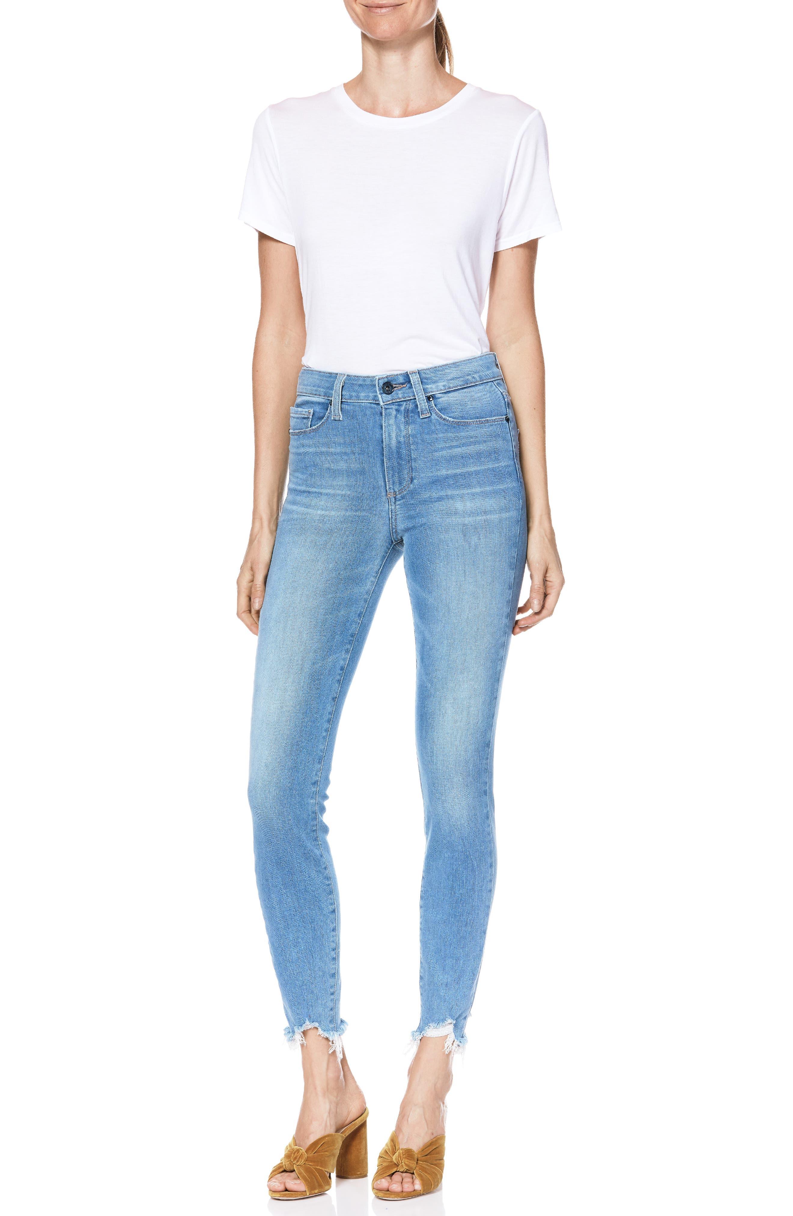 Transcend Vintage - Hoxton High Waist Ripped Crop Skinny Jeans,                             Alternate thumbnail 5, color,                             ALAMEDA
