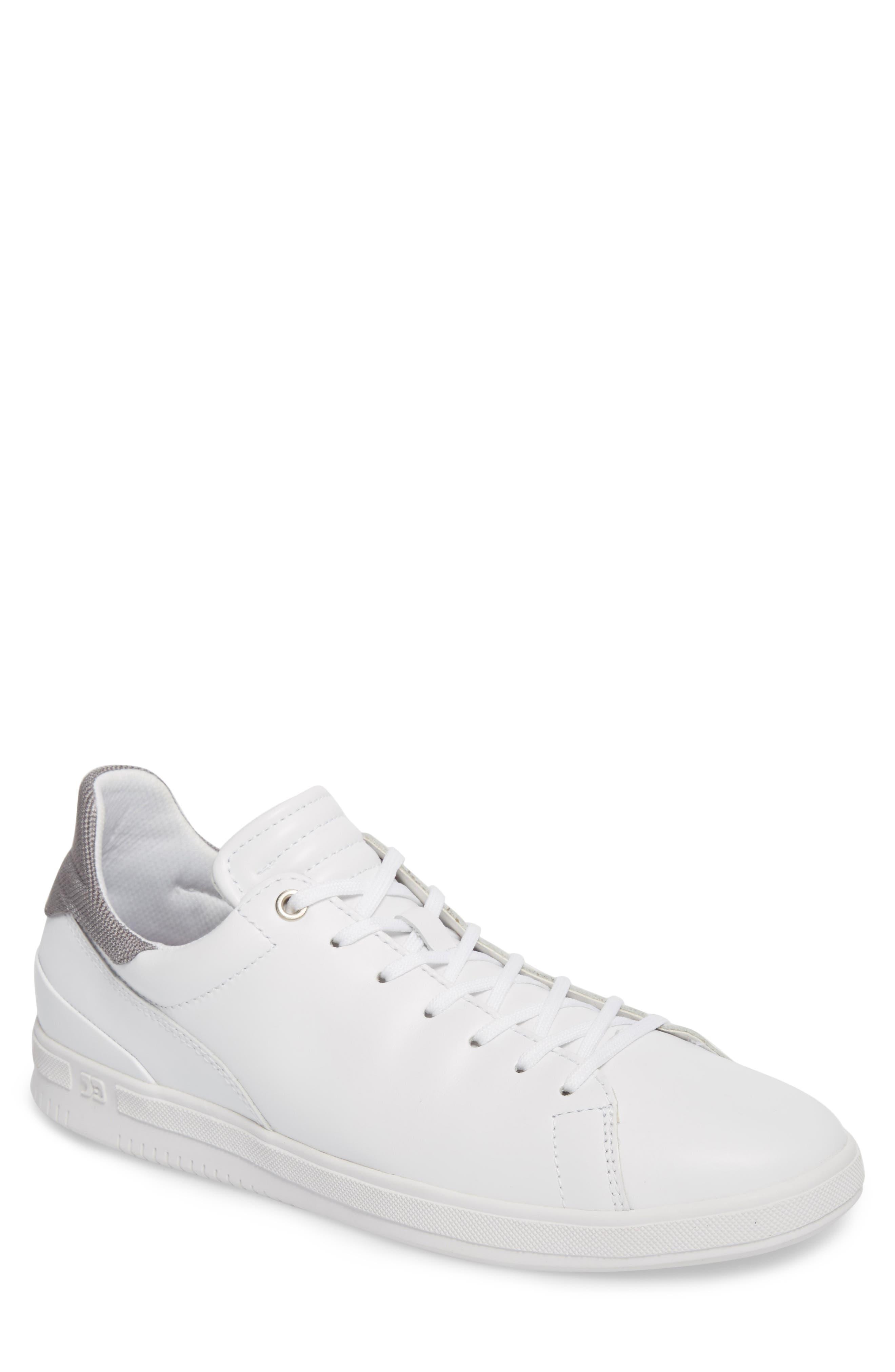 Joe Mama Sneaker,                             Main thumbnail 1, color,                             WHITE LEATHER