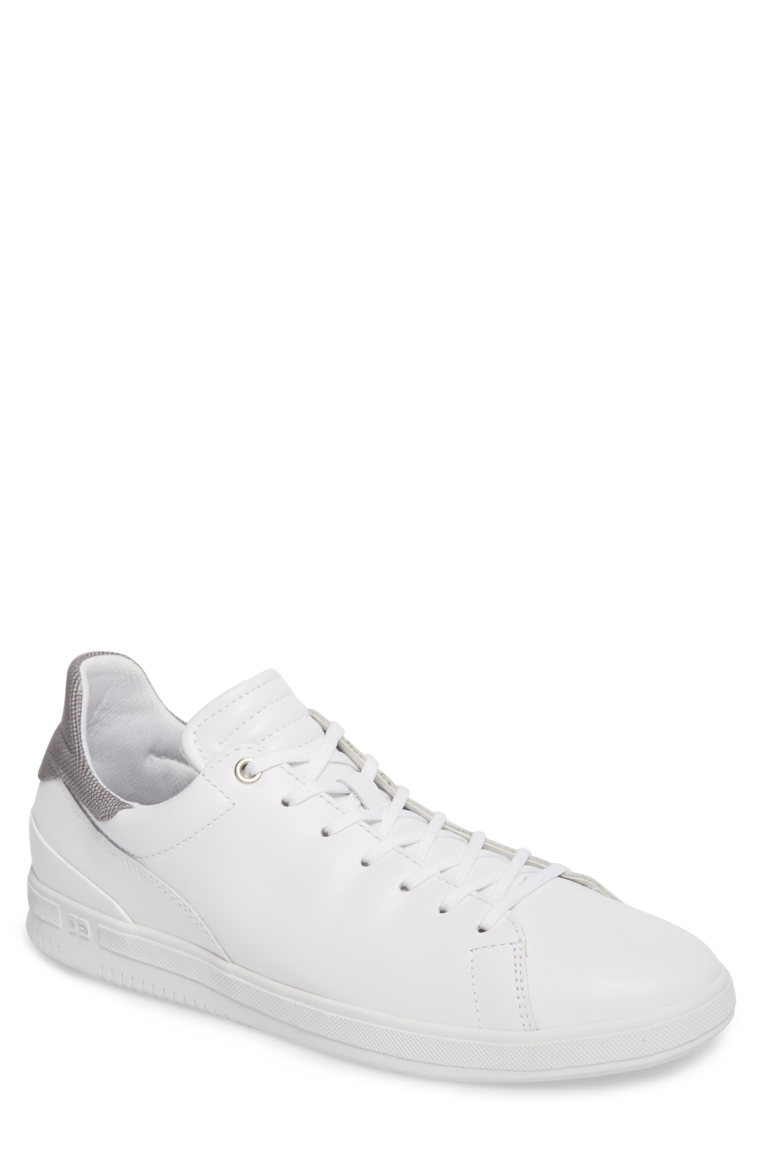 Joe Mama Sneaker,                         Main,                         color, WHITE LEATHER