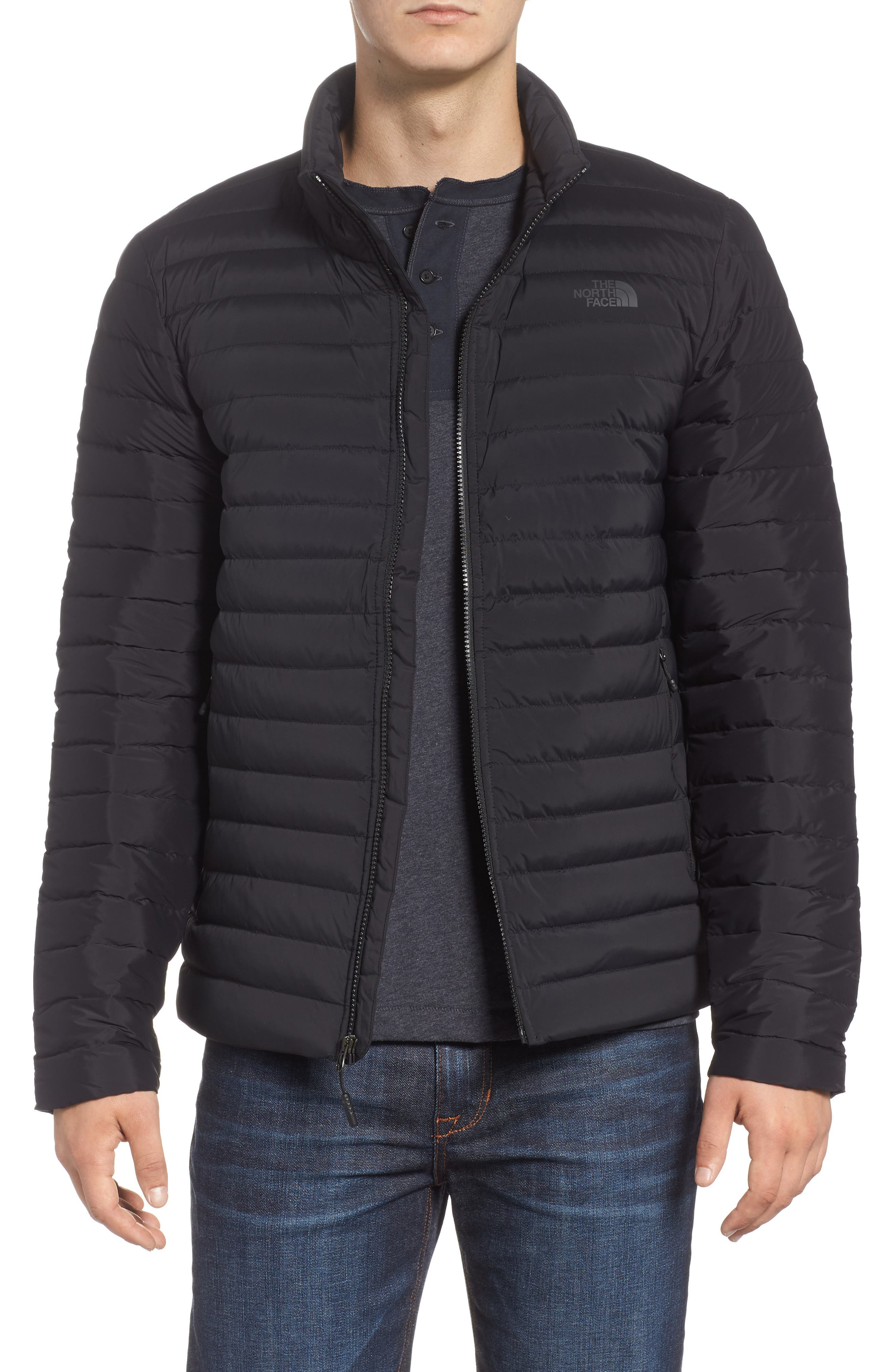 Packable Stretch Down Jacket,                         Main,                         color, TNF BLACK/ TNF BLACK