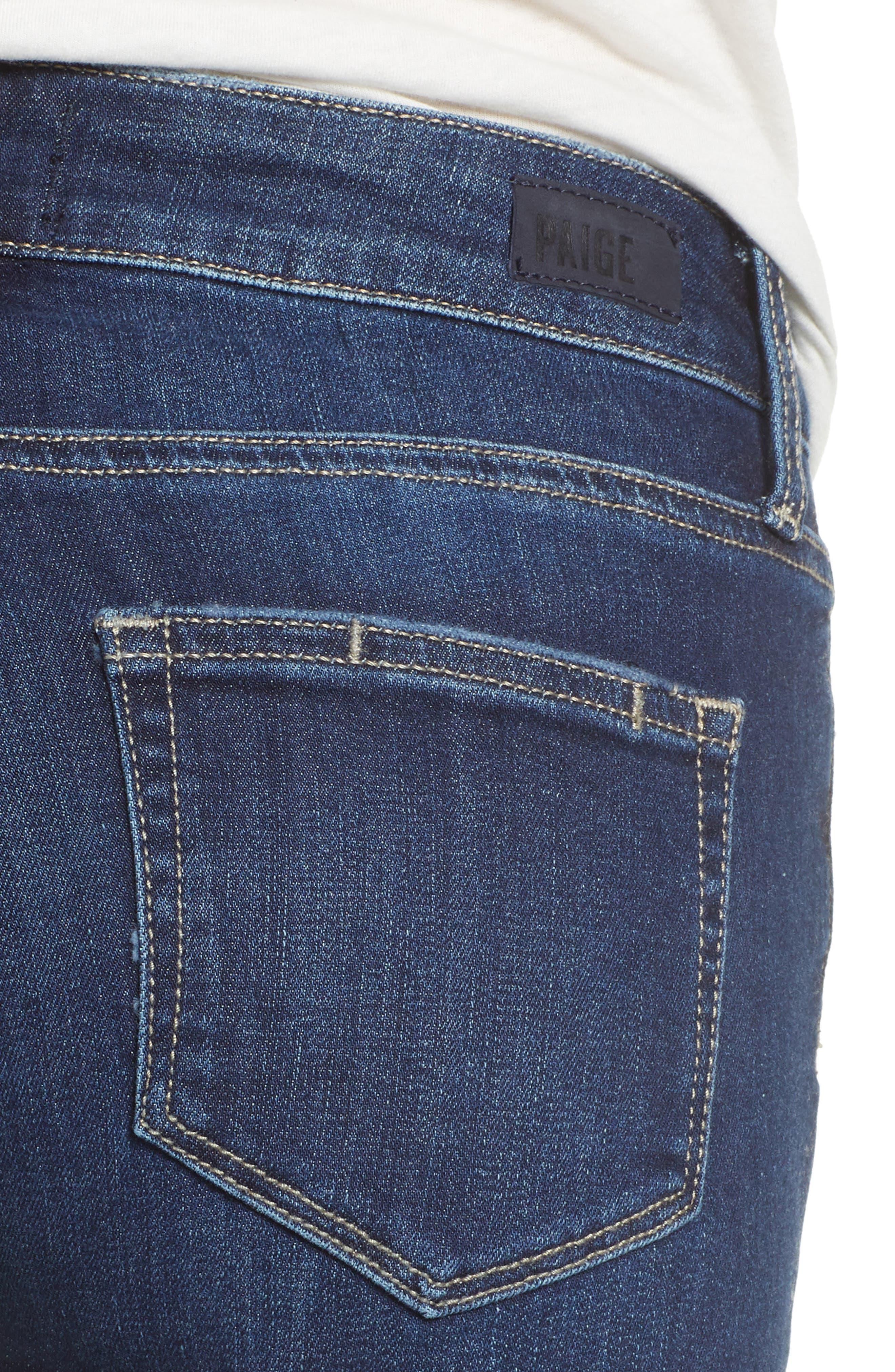 Transcend Vintage - Jax Denim Bermuda Shorts,                             Alternate thumbnail 4, color,                             400