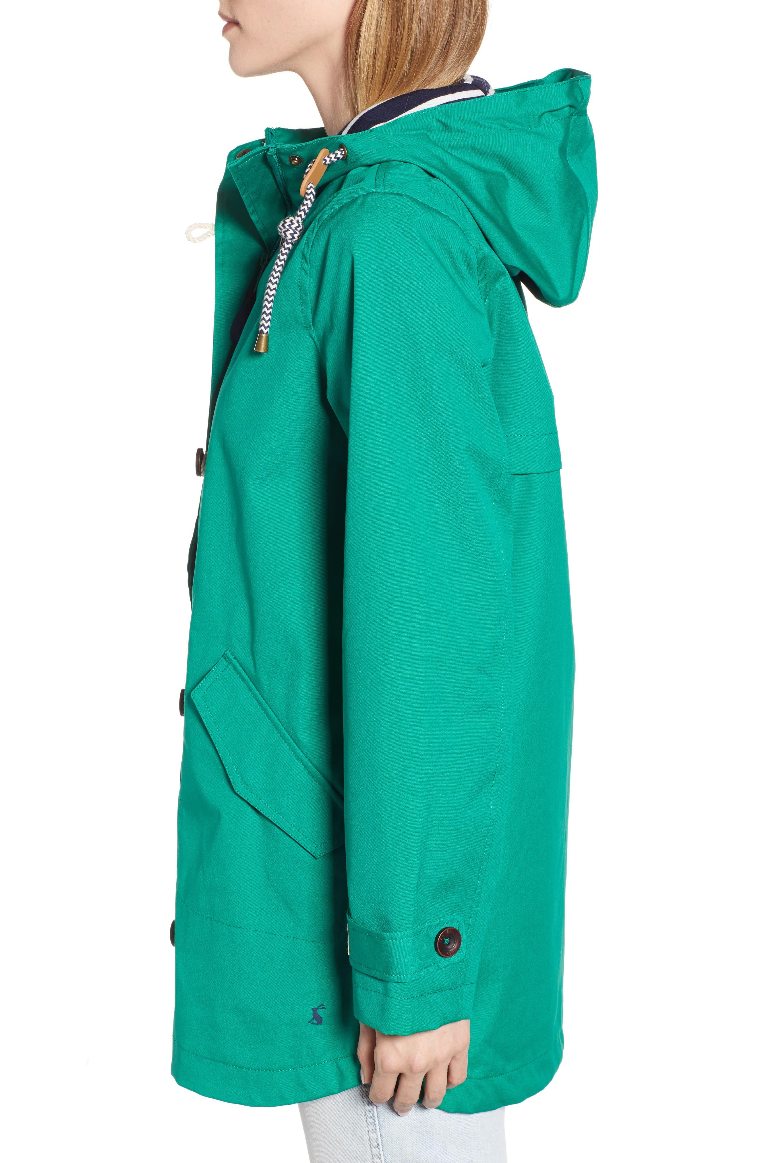 Coast Waterproof Hooded Jacket,                             Alternate thumbnail 3, color,                             GREEN