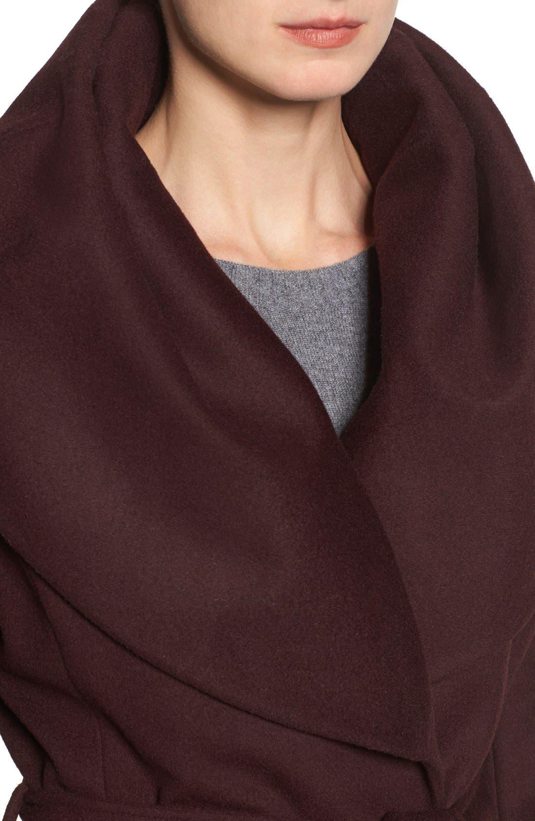 T Tahari Wool Blend Belted Wrap Coat,                             Alternate thumbnail 19, color,