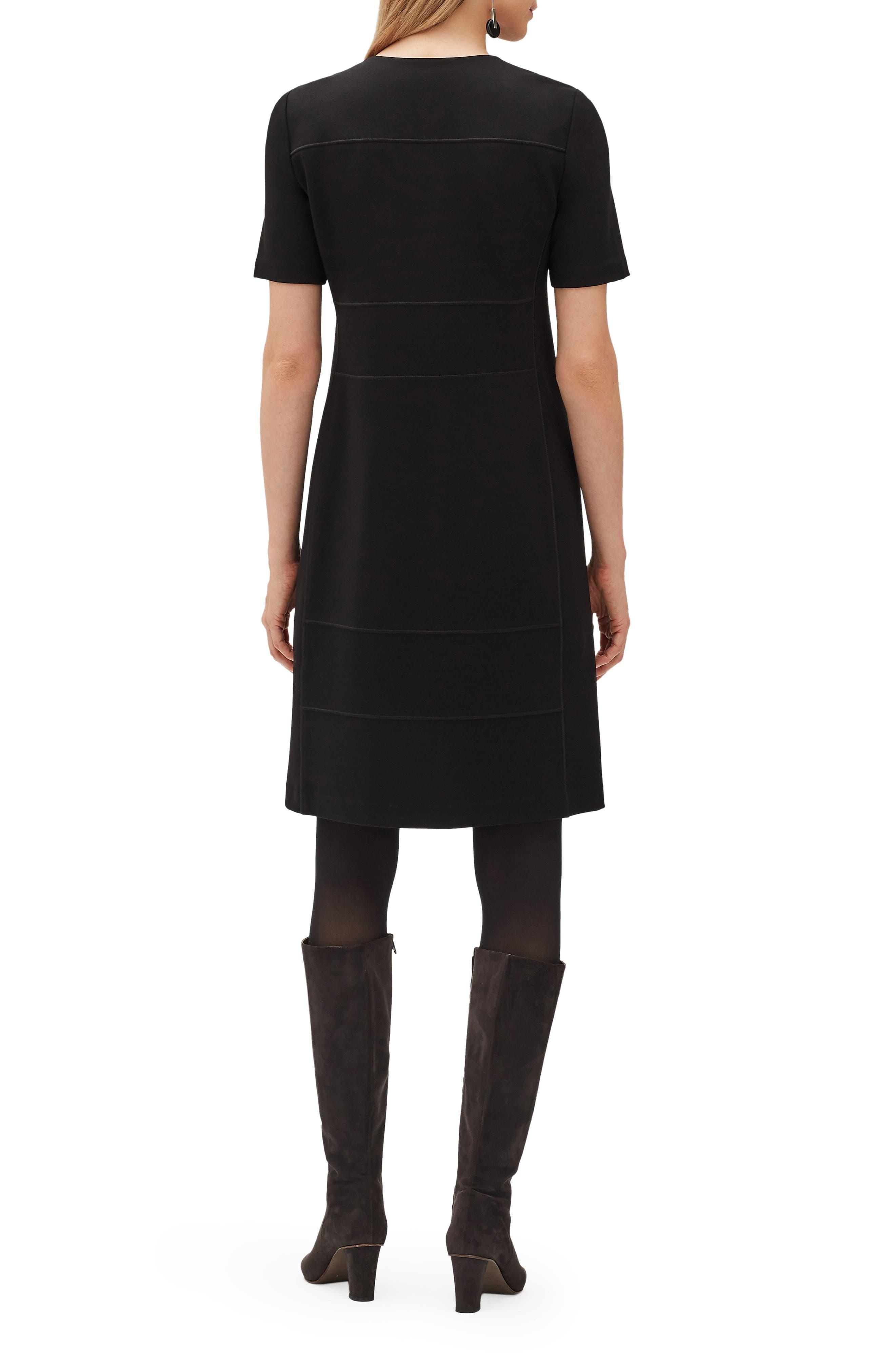 Demi Zip Front Dress,                             Alternate thumbnail 2, color,                             001