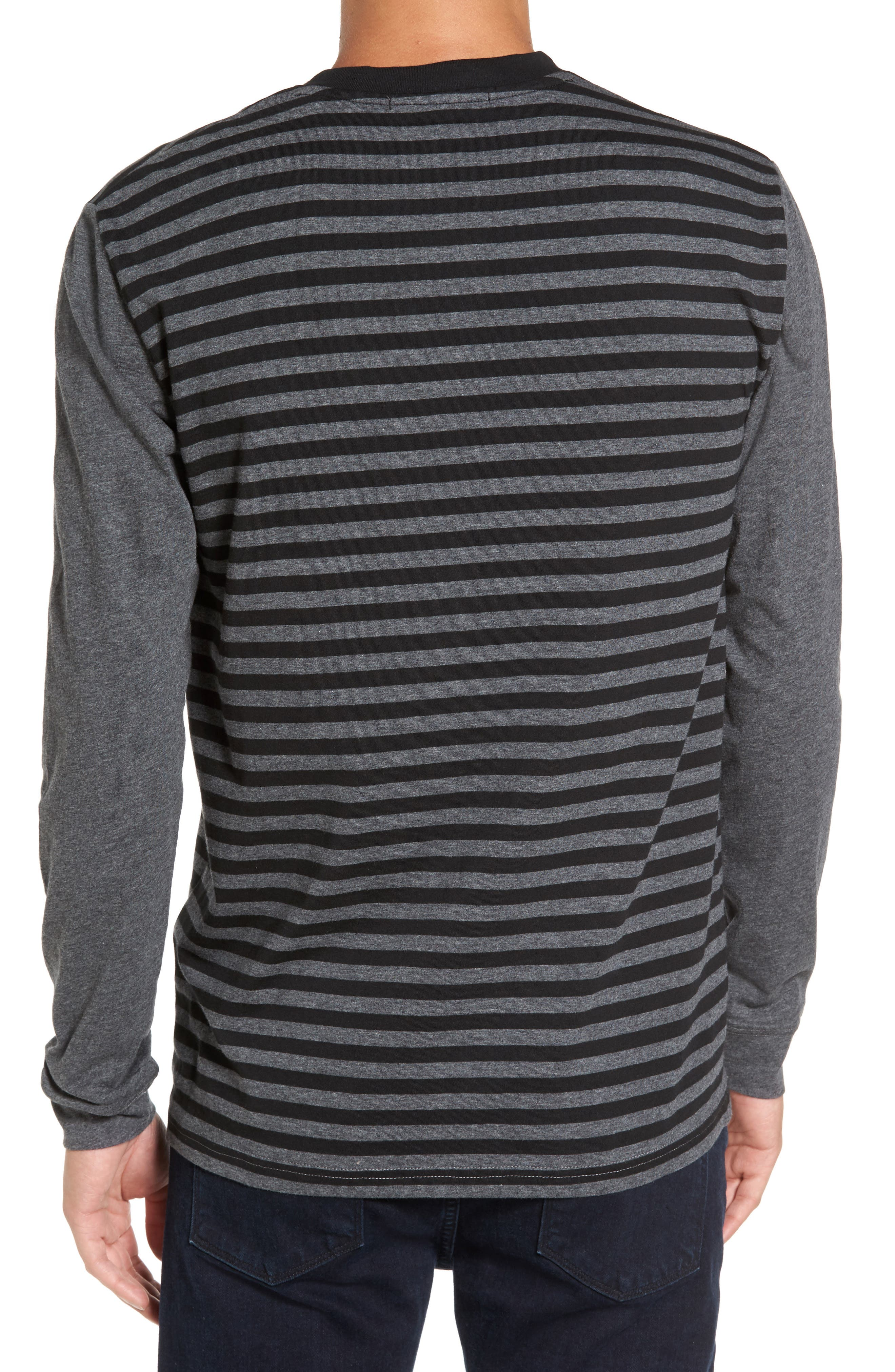 Striped Long Sleeve Henley T-Shirt,                             Alternate thumbnail 2, color,                             081