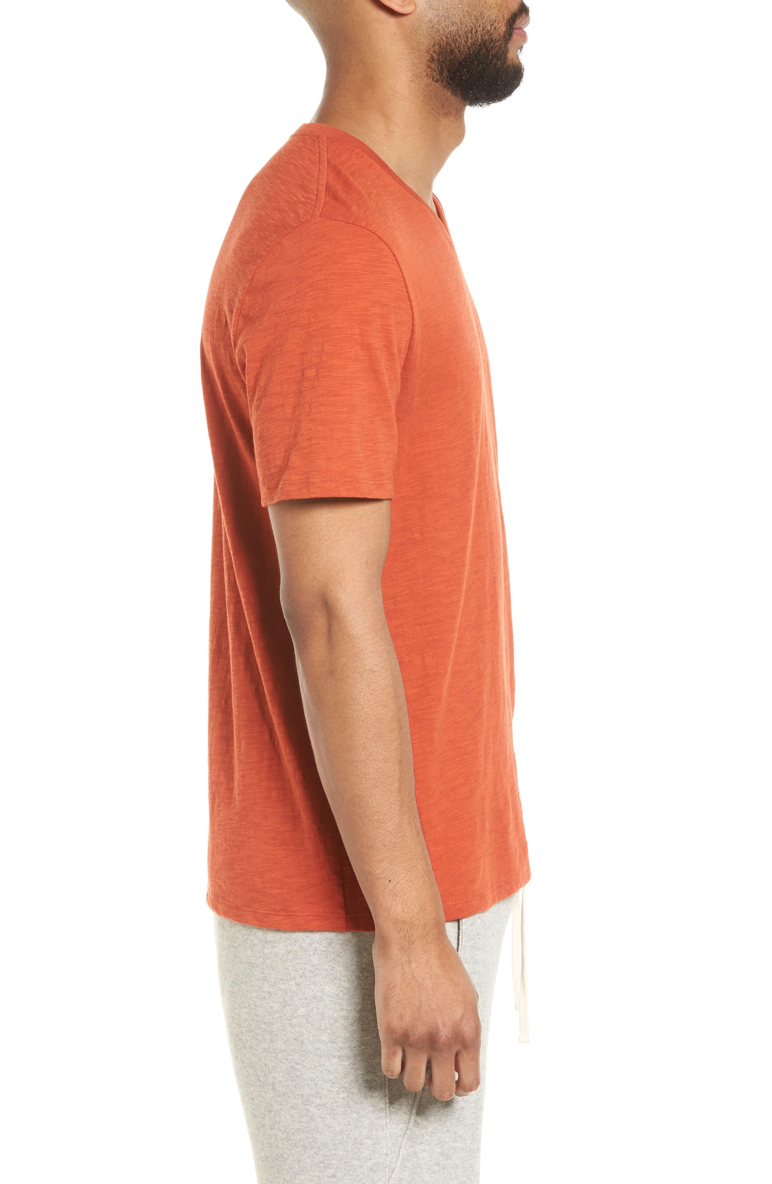 Slim Fit Slub V-Neck T-Shirt,                             Alternate thumbnail 6, color,