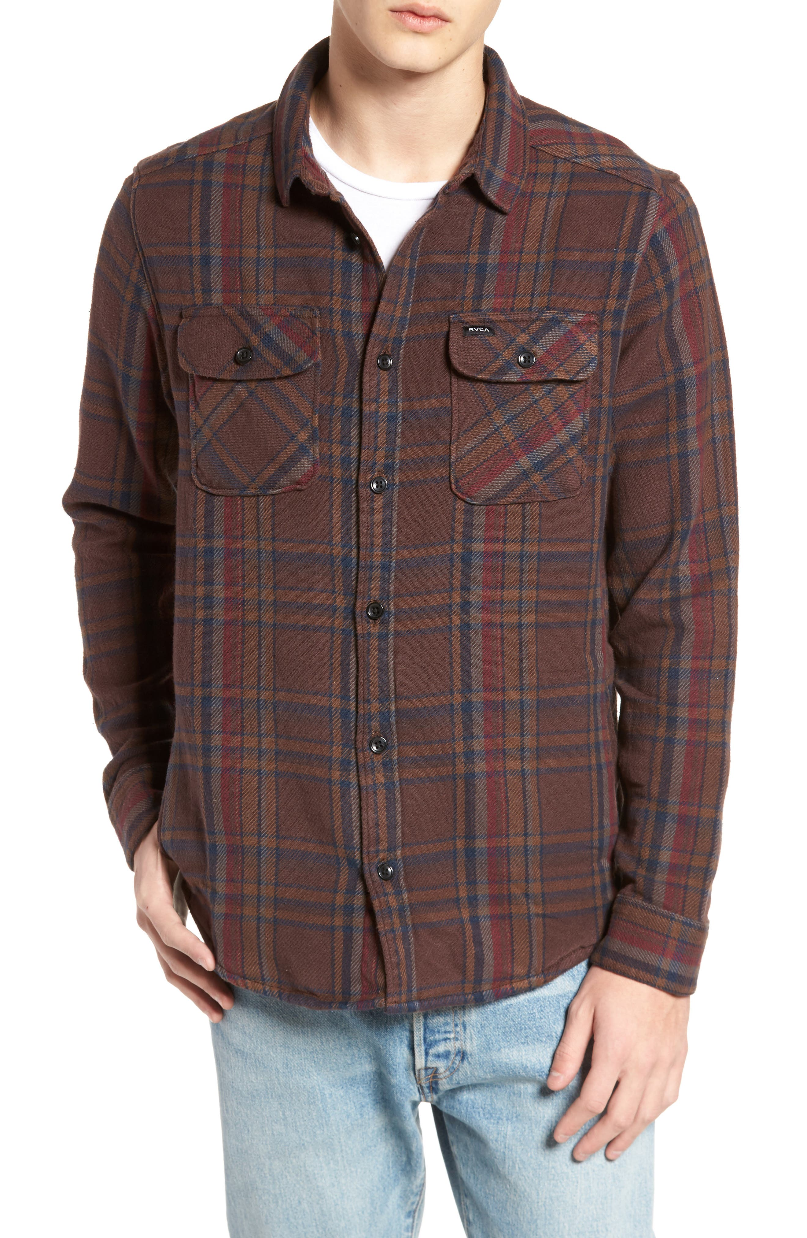 Camino Flannel Shirt,                             Alternate thumbnail 4, color,                             203