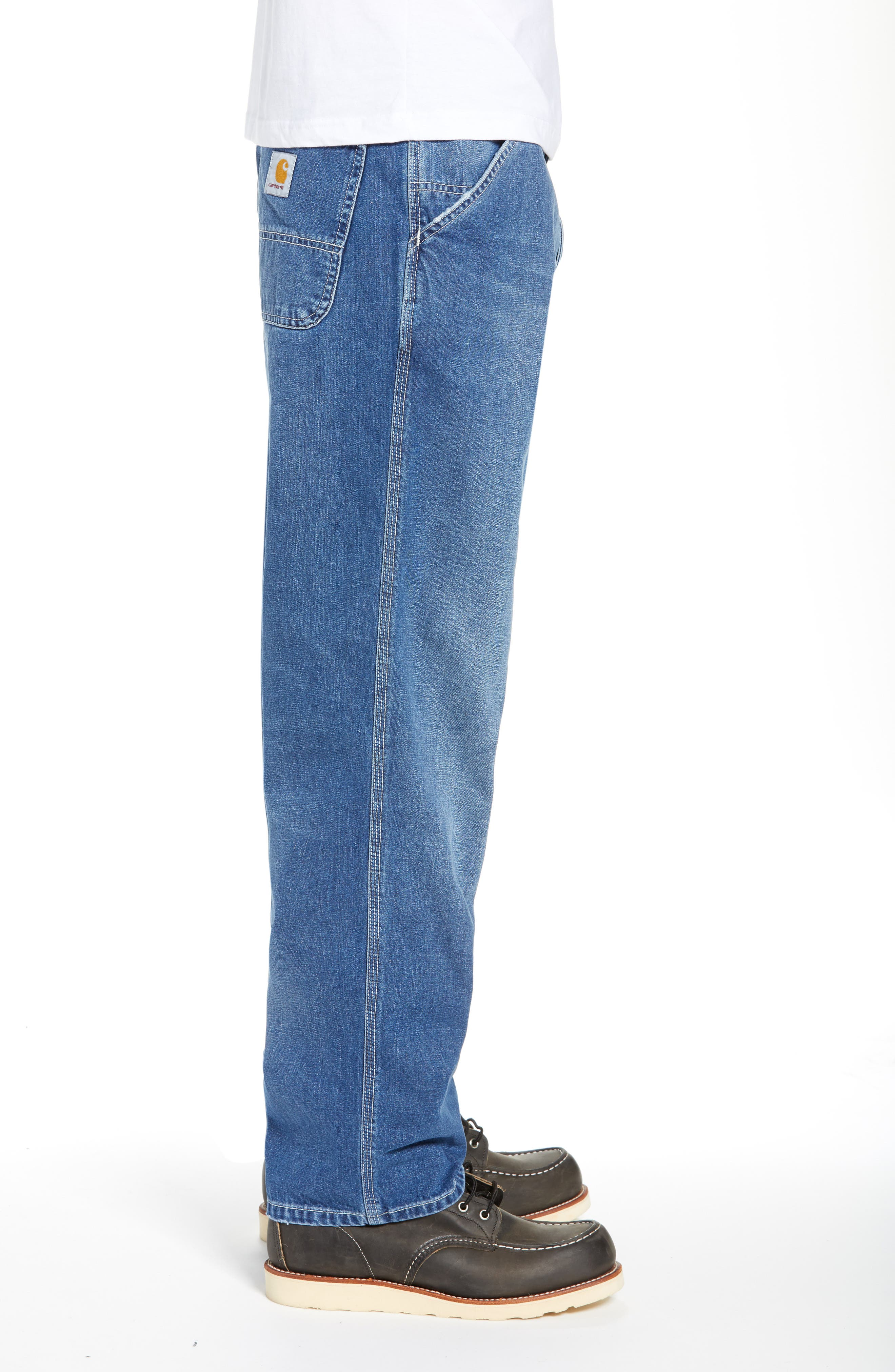 CARHARTT WORK IN PROGRESS,                             Simple Denim Jeans,                             Alternate thumbnail 3, color,                             BLUE
