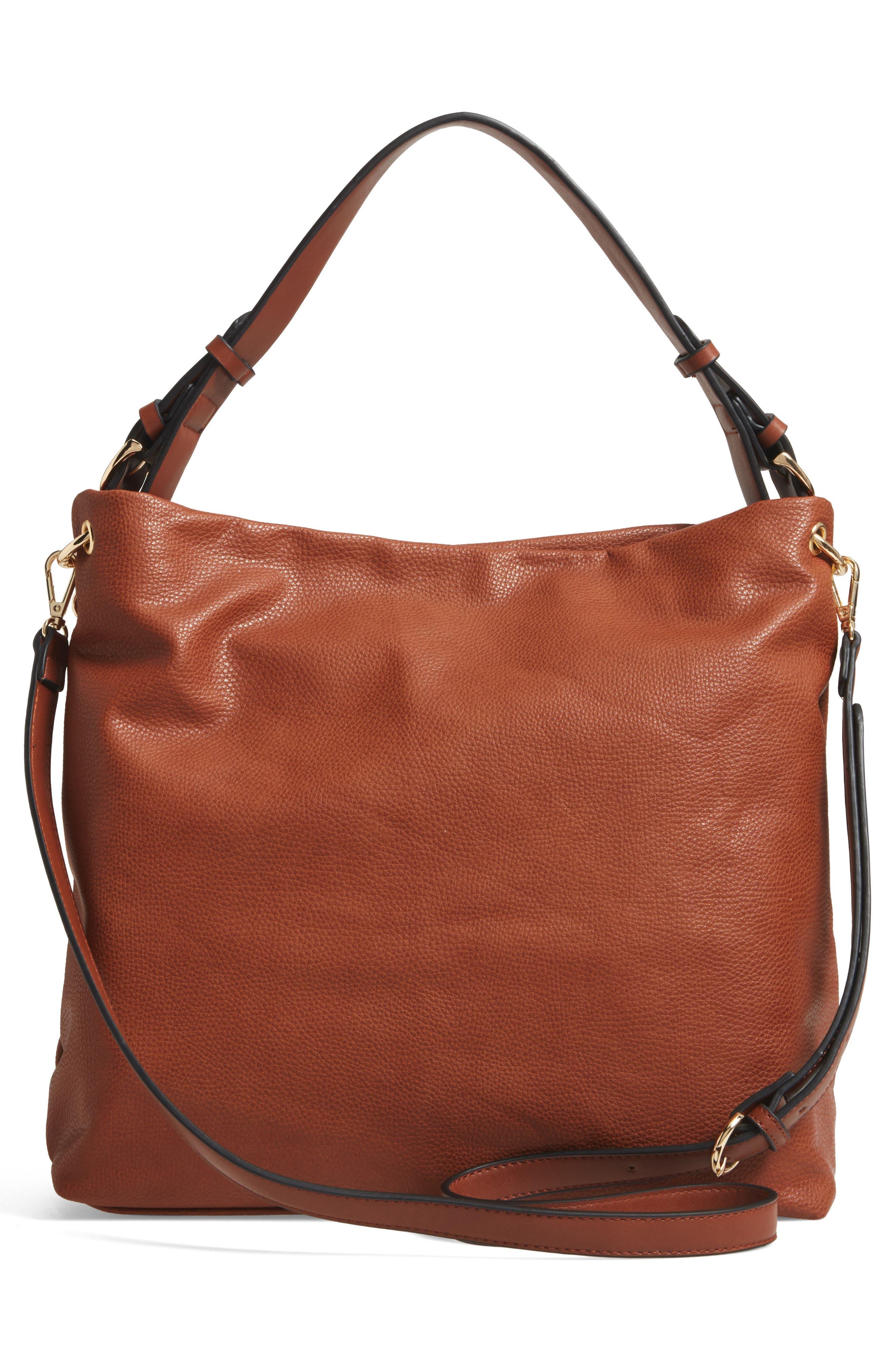 Taylor Faux Leather Shoulder Bag,                             Alternate thumbnail 9, color,