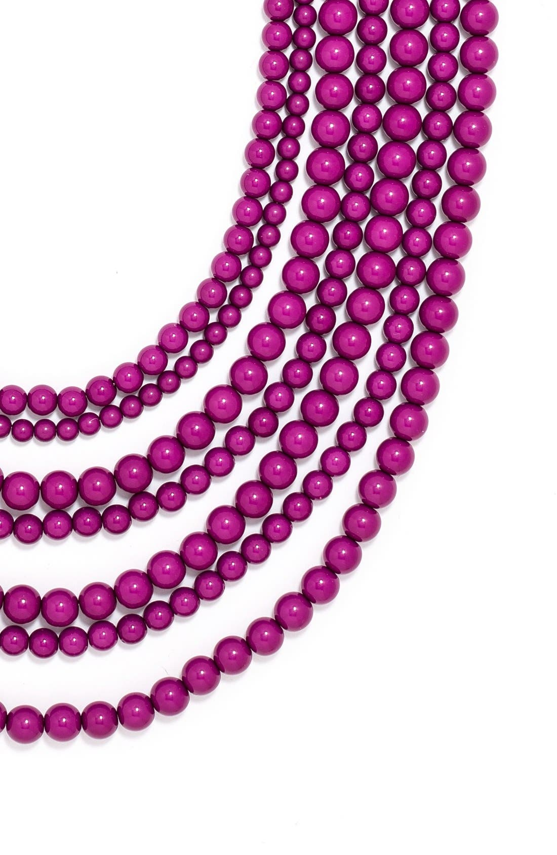 'Bold' Multistrand Beaded Statement Necklace,                             Alternate thumbnail 19, color,