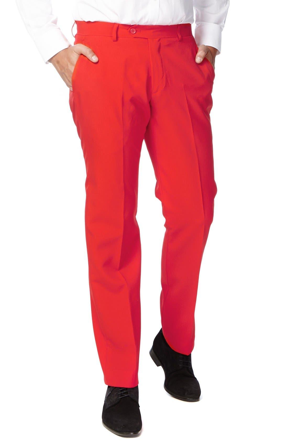 OppoSuit 'Red Devil' Trim Fit Two-Piece Suit with Tie,                             Alternate thumbnail 3, color,                             610