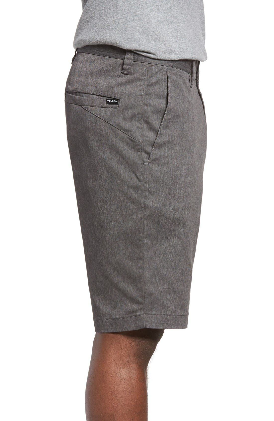 'Modern' Stretch Chino Shorts,                             Alternate thumbnail 3, color,                             030