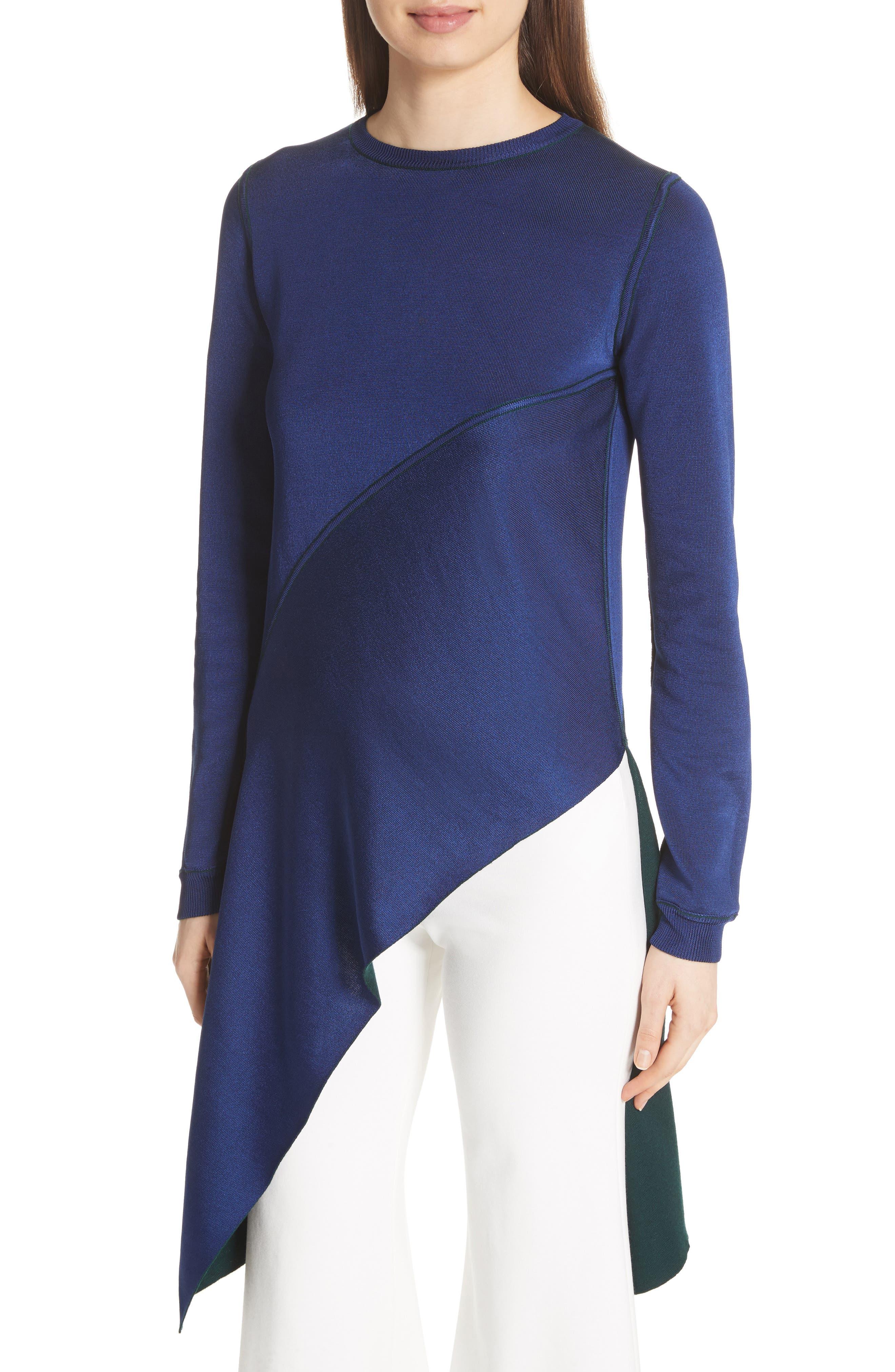 Reversible Knit Asymmetrical Top,                             Alternate thumbnail 5, color,