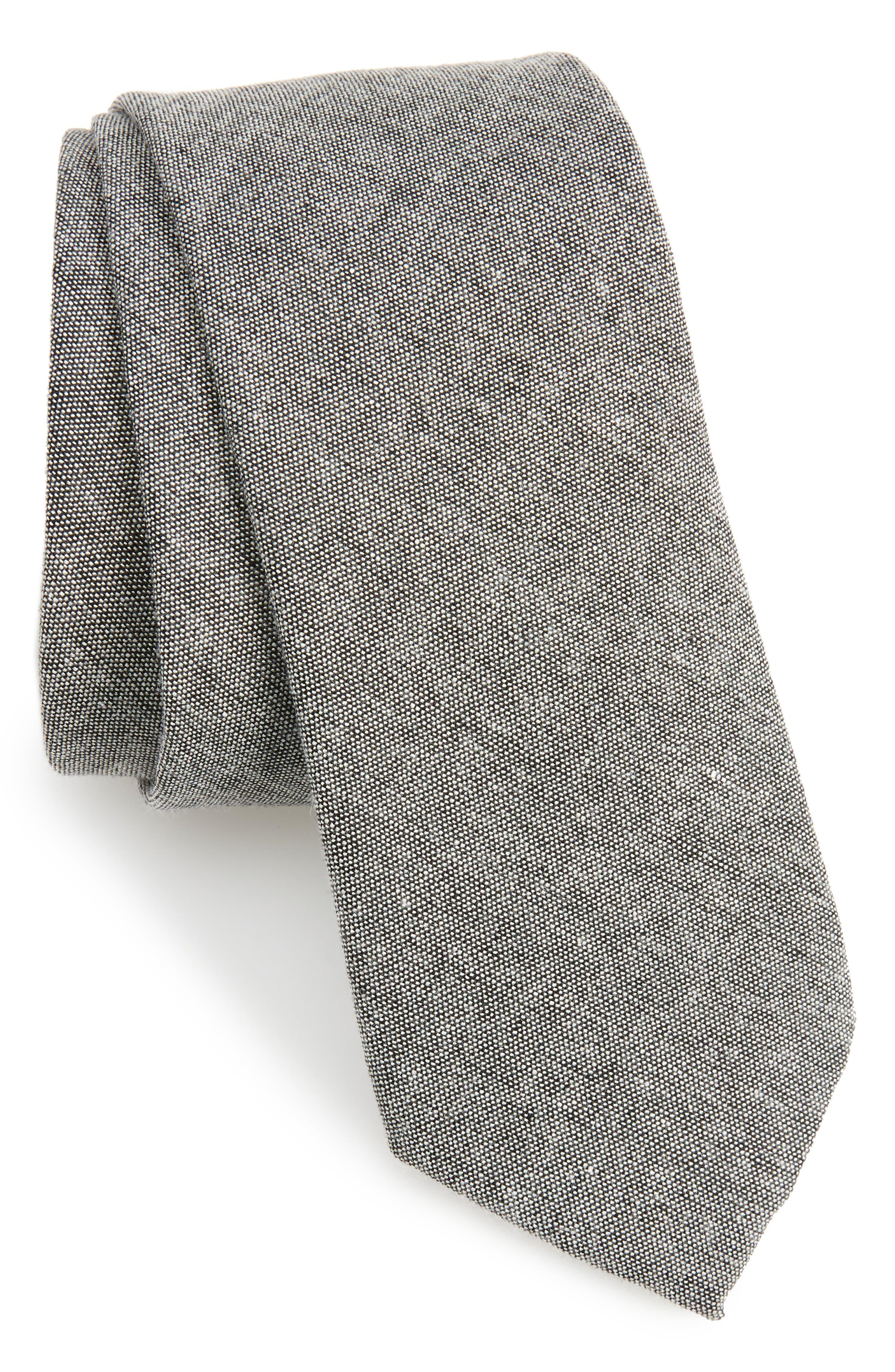 Textured Skinny Tie,                         Main,                         color, 001