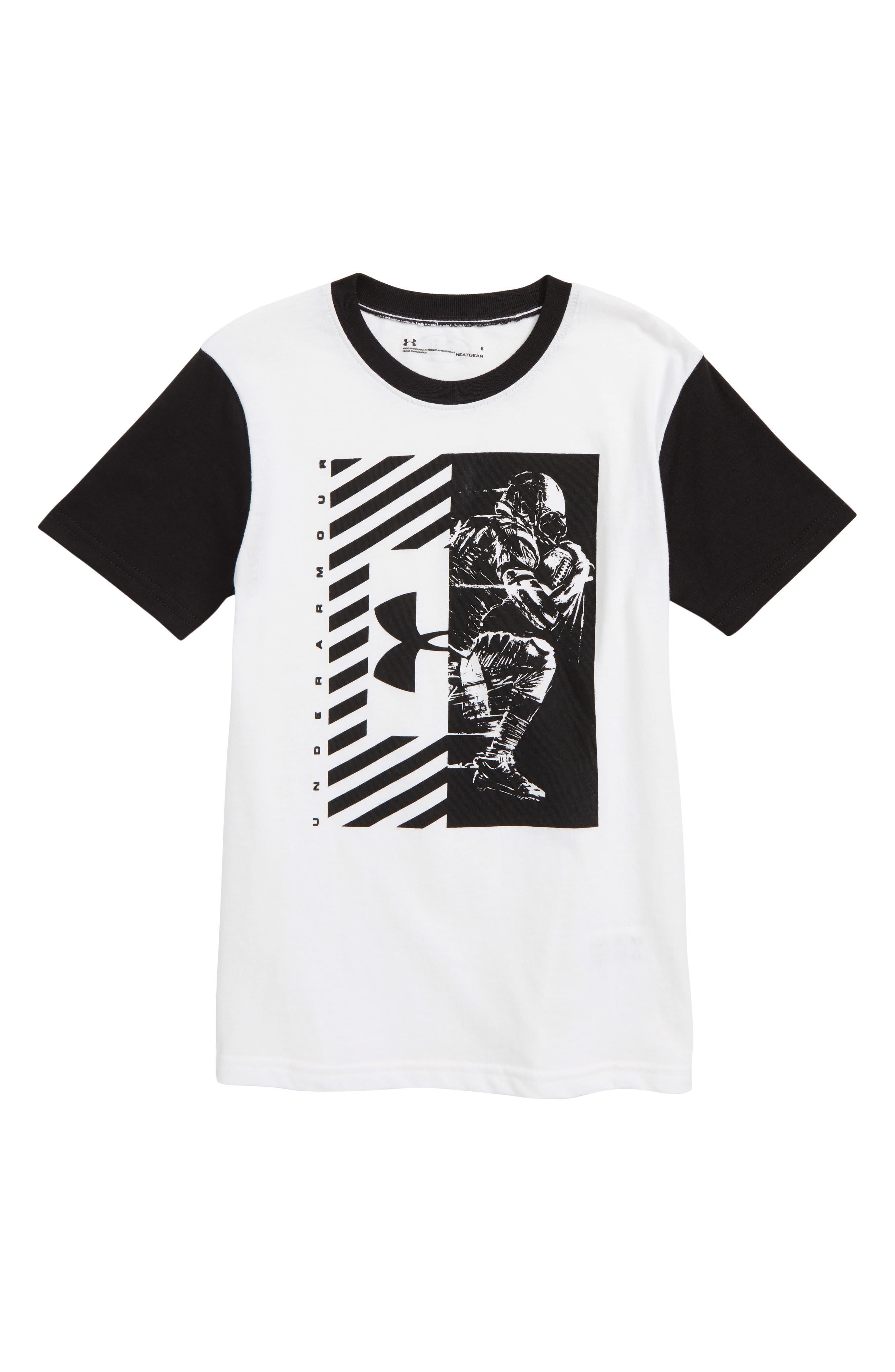 Football Player Graphic HeatGear<sup>®</sup> T-Shirt,                             Main thumbnail 1, color,                             100