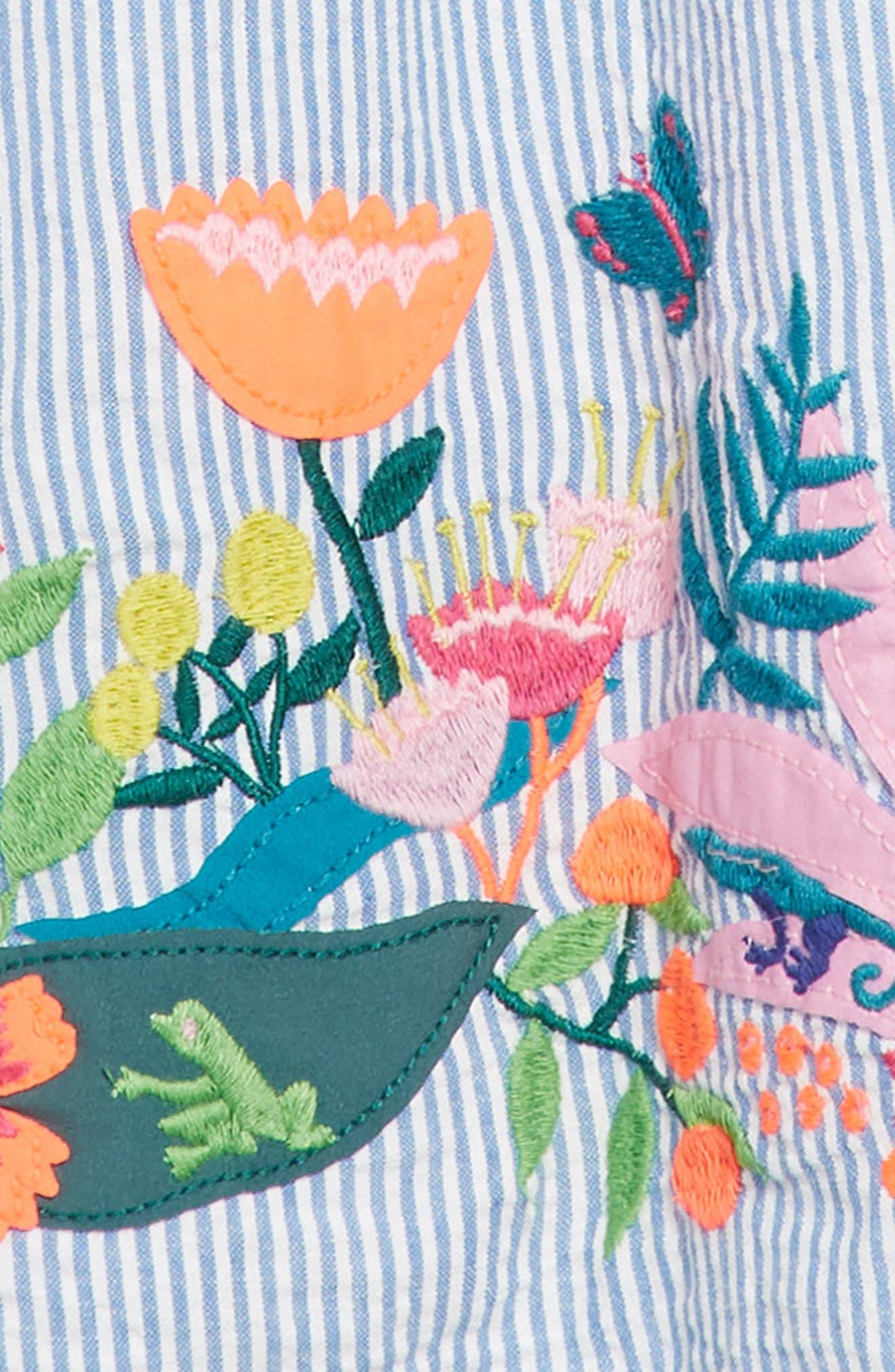 Embroidered Hem Dress,                             Alternate thumbnail 3, color,