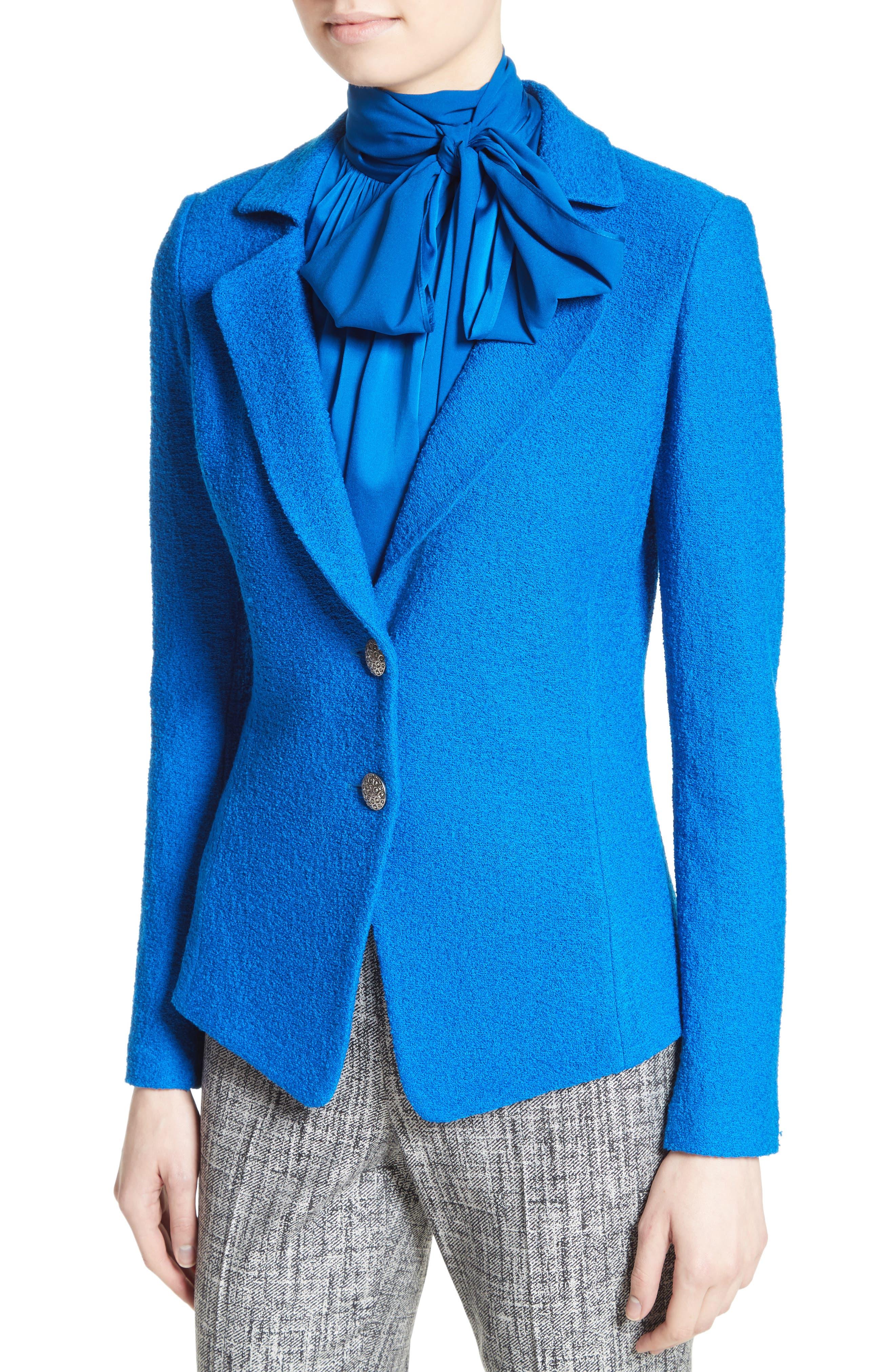 Clair Knit Peplum Jacket,                             Alternate thumbnail 6, color,