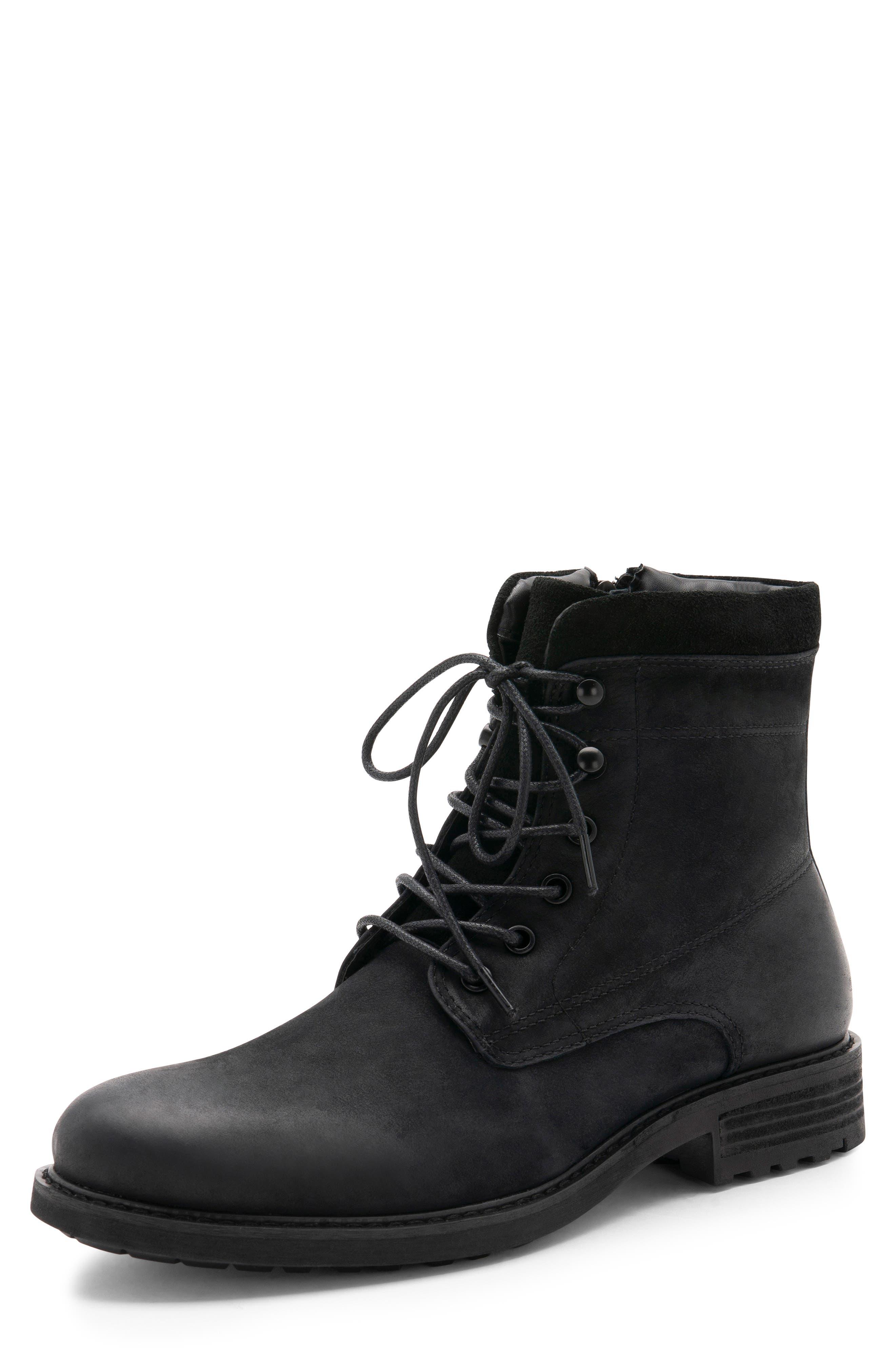 Patton Waterproof Plain Toe Boot,                             Alternate thumbnail 7, color,                             BLACK NUBUCK
