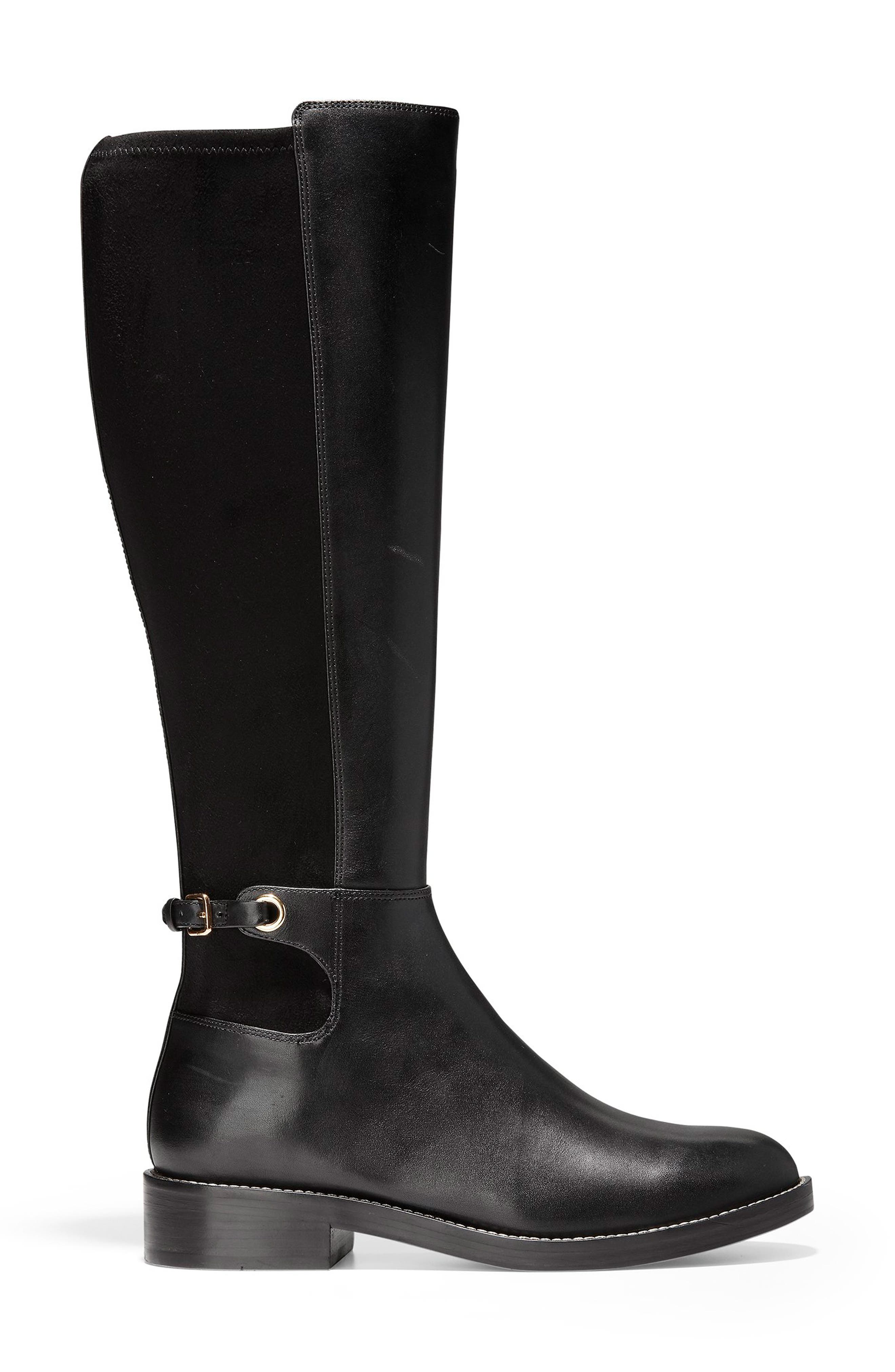 Parker Grand Stretch Knee High Boot,                             Alternate thumbnail 3, color,                             001