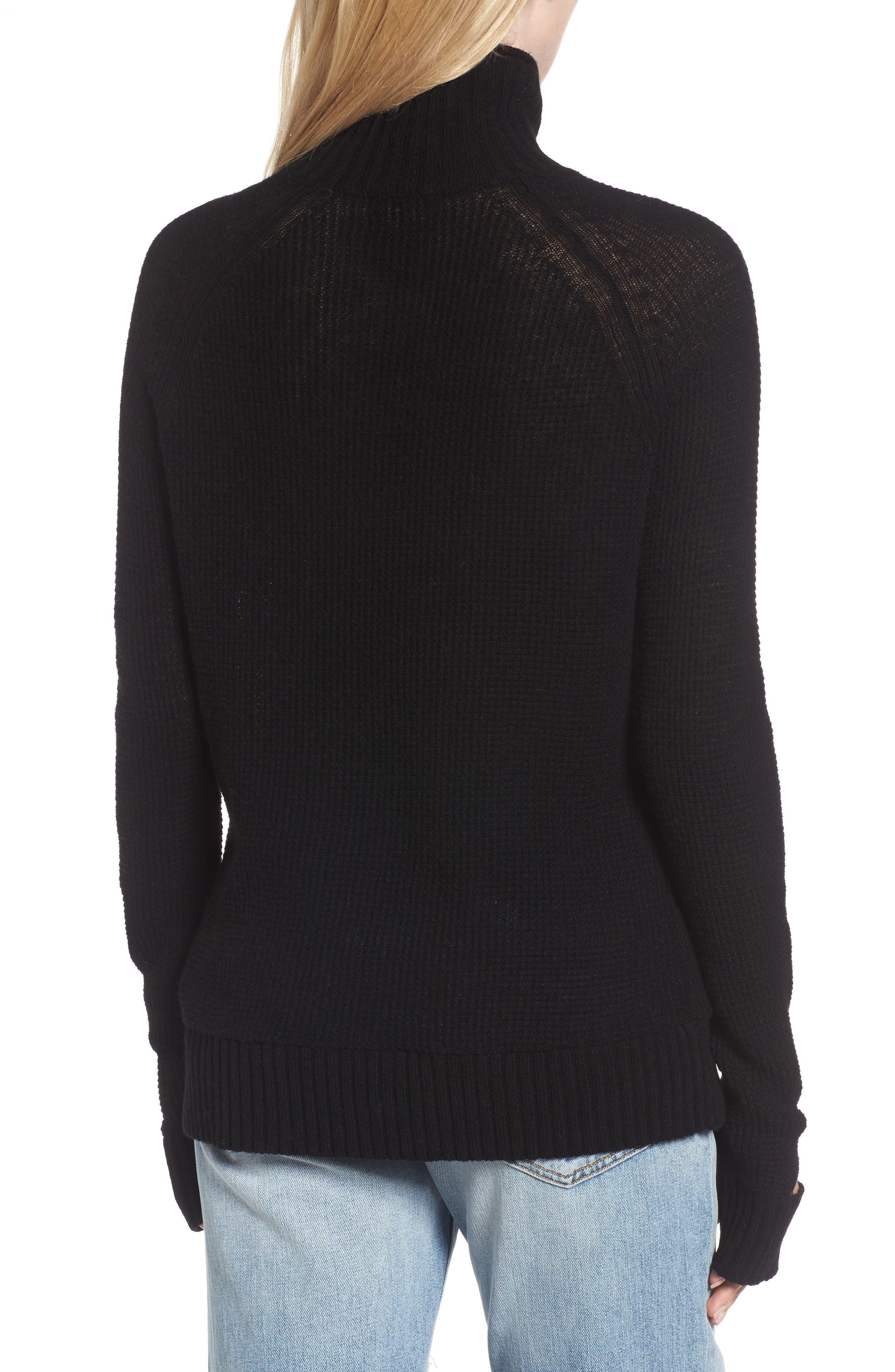 Jenni Turtleneck Sweater,                             Alternate thumbnail 2, color,                             001