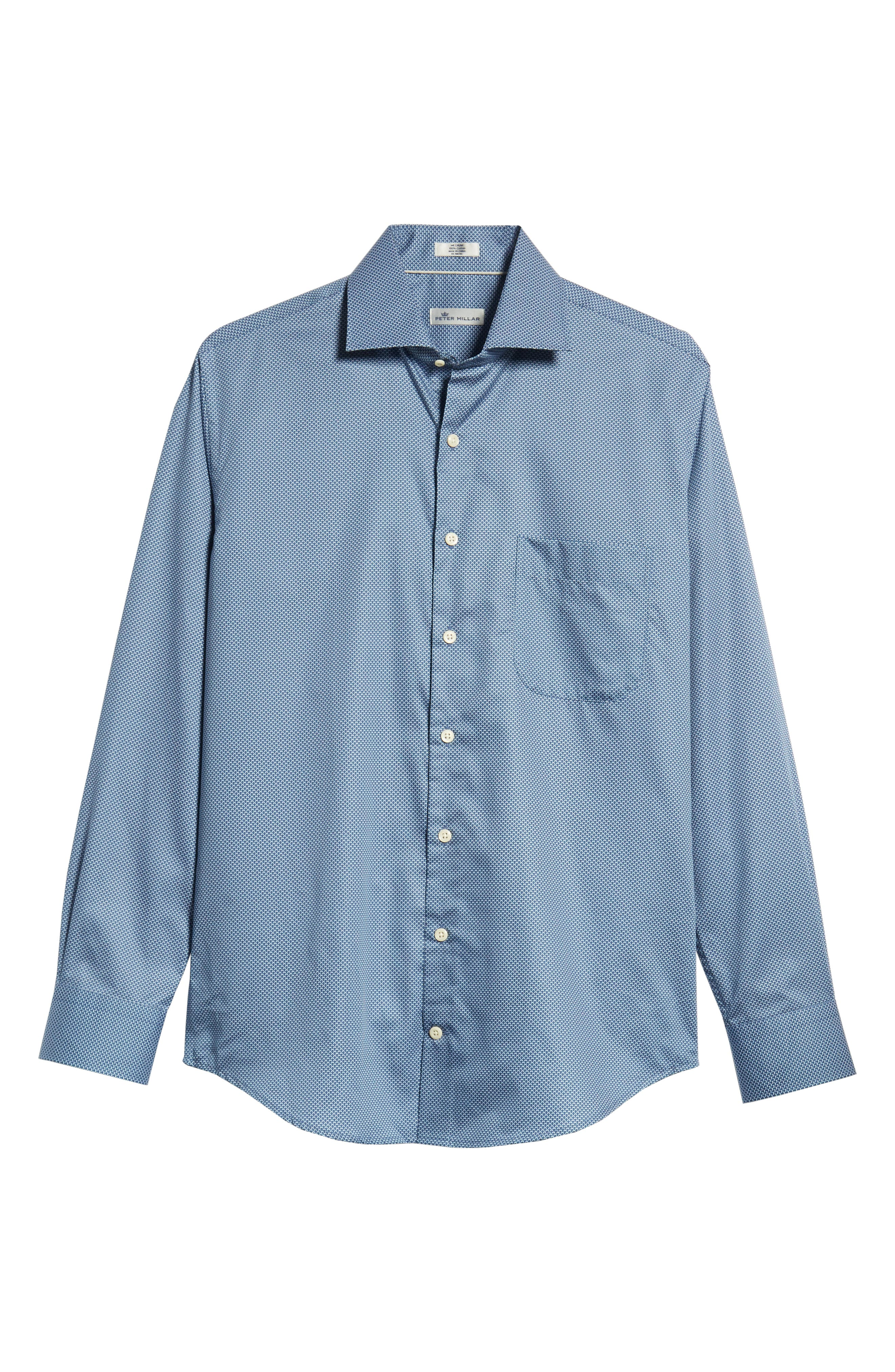 Off the Scale Sport Shirt,                             Alternate thumbnail 5, color,                             YANKEE BLUE