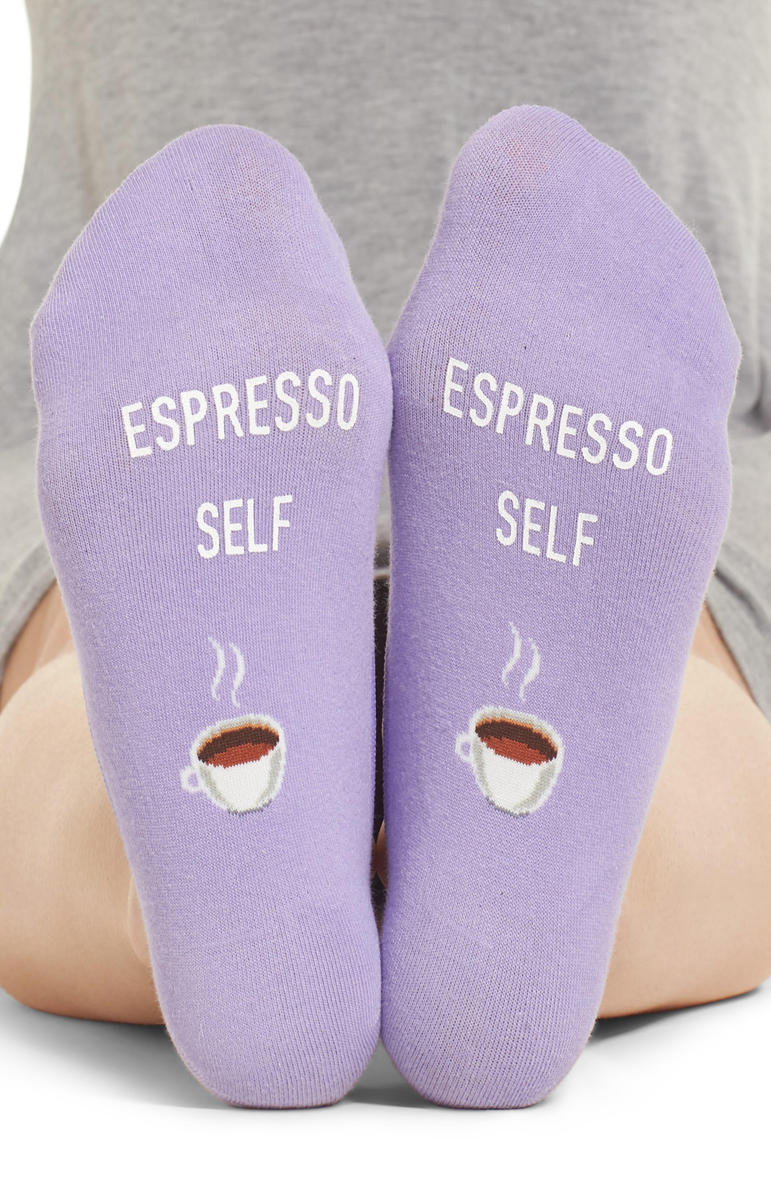 Espresso Self No-Show Socks,                             Alternate thumbnail 3, color,                             536