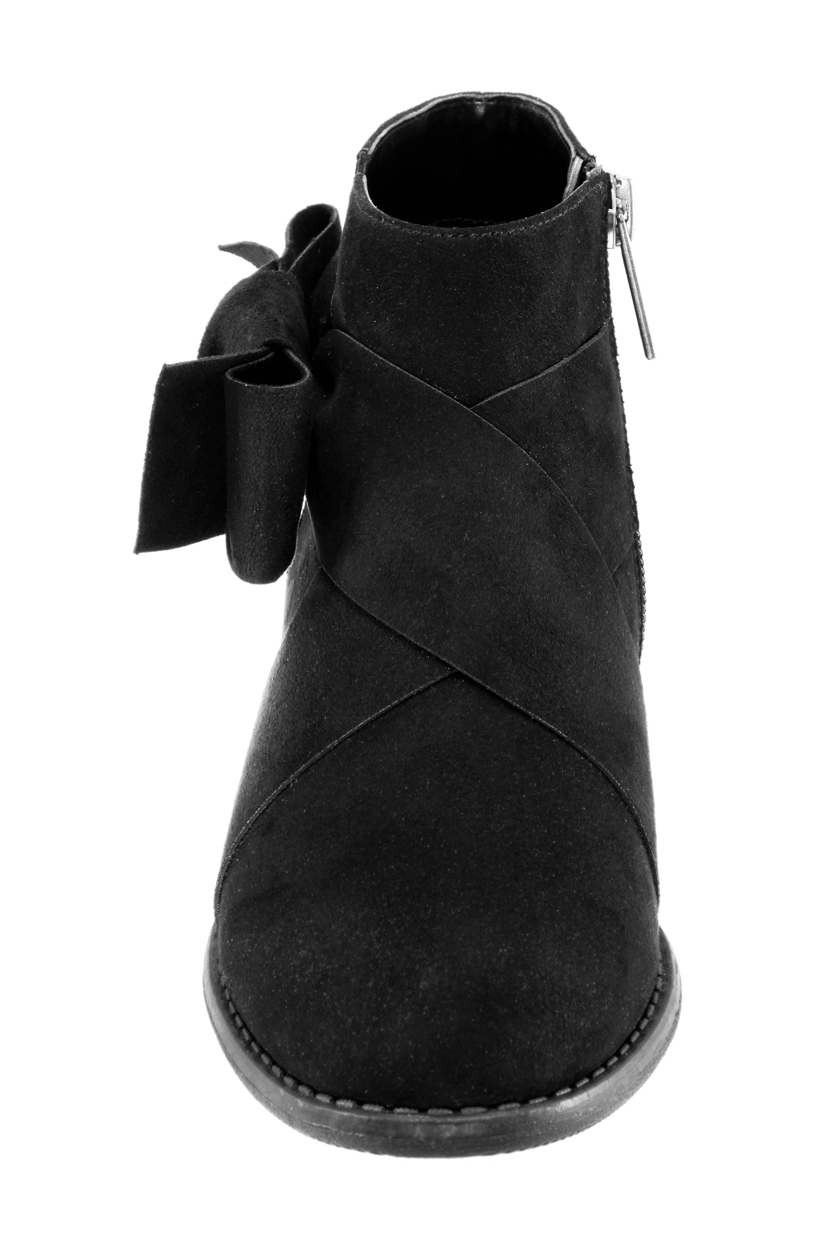 Dollee Bootie,                             Alternate thumbnail 4, color,                             BLACK MICRO SUEDE