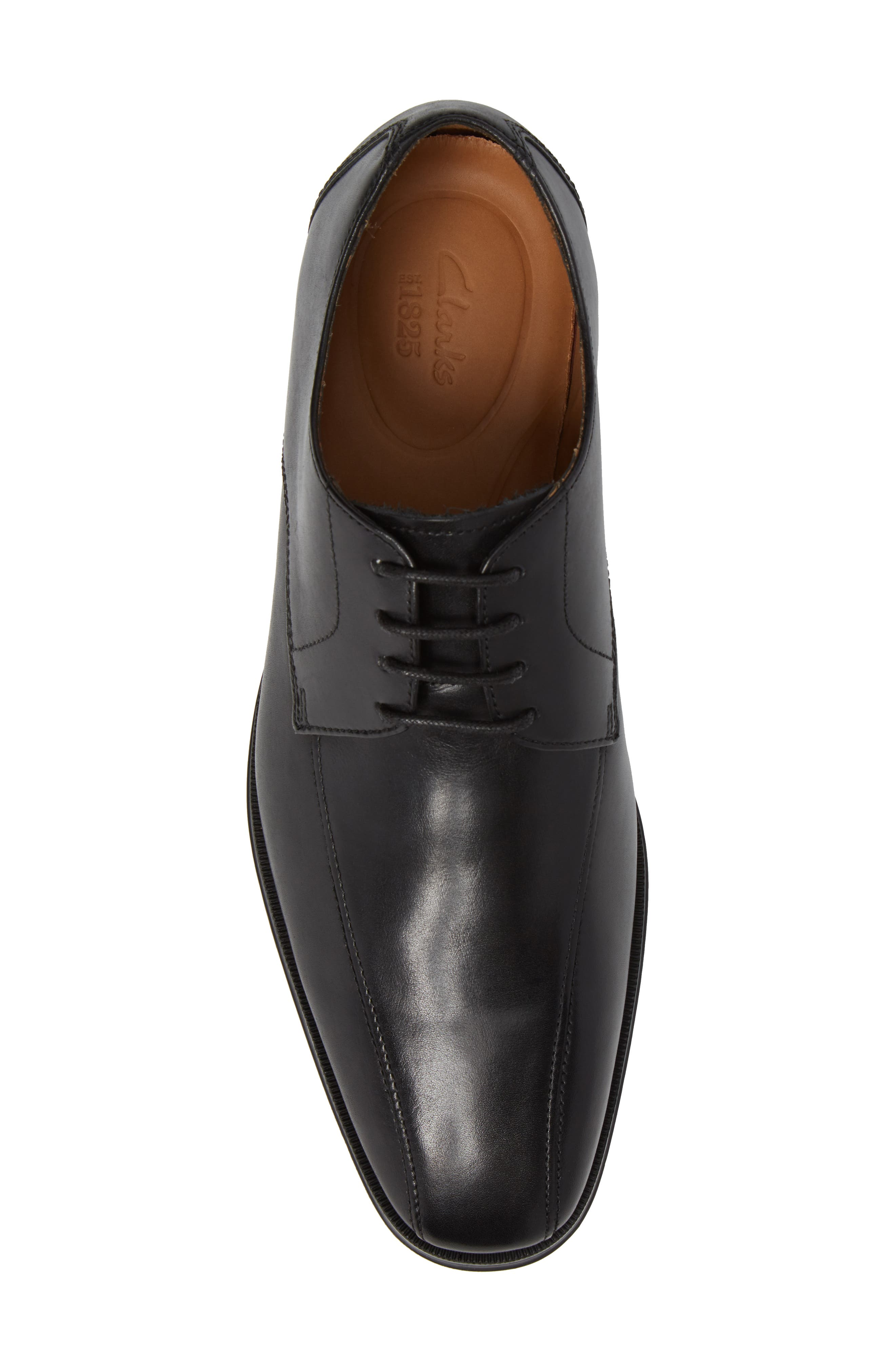 Clarks Gilman Mode Derby,                             Alternate thumbnail 5, color,                             BLACK LEATHER