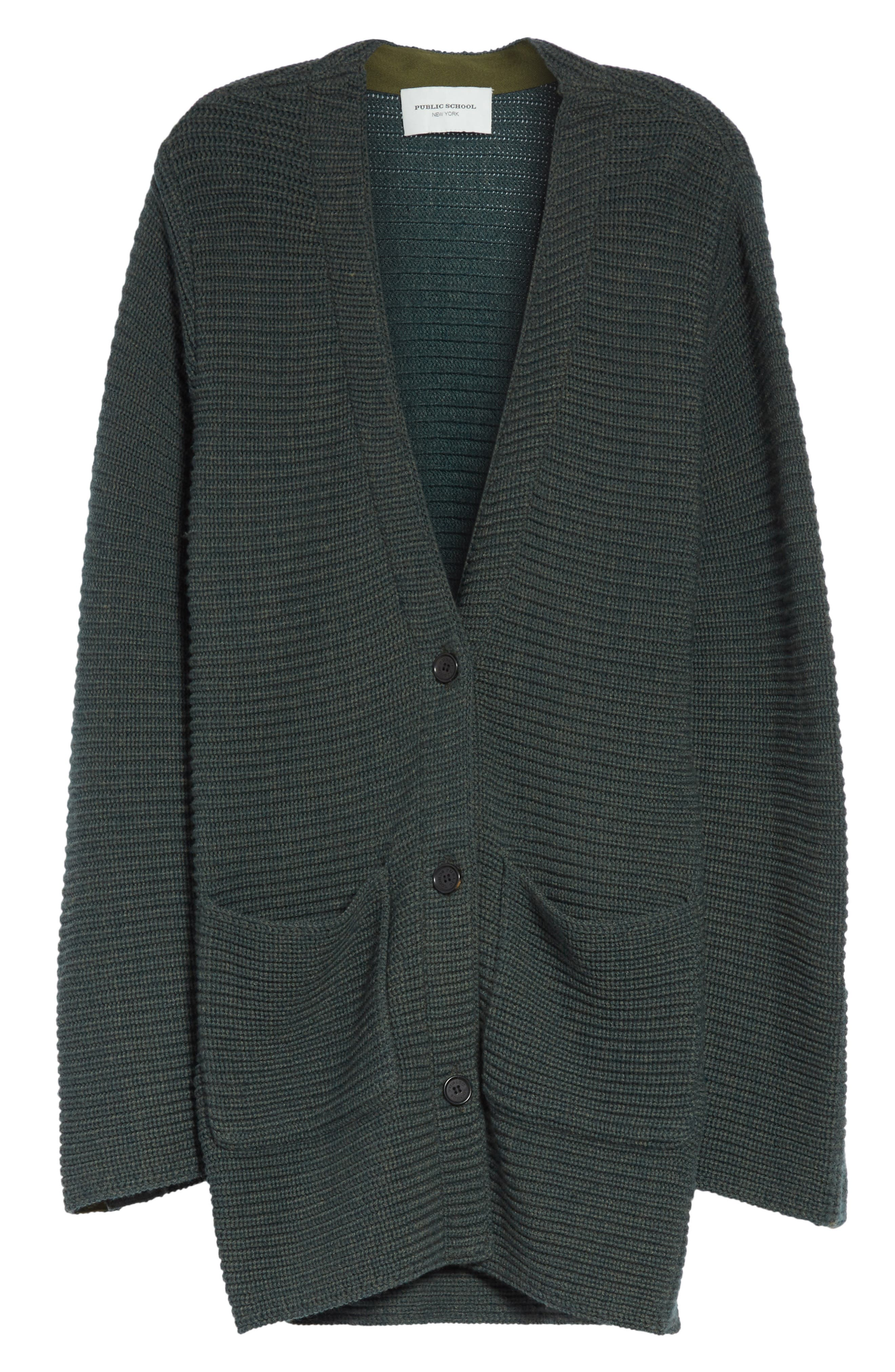 Fleta Merino Wool Blend Cardigan,                             Alternate thumbnail 6, color,                             300
