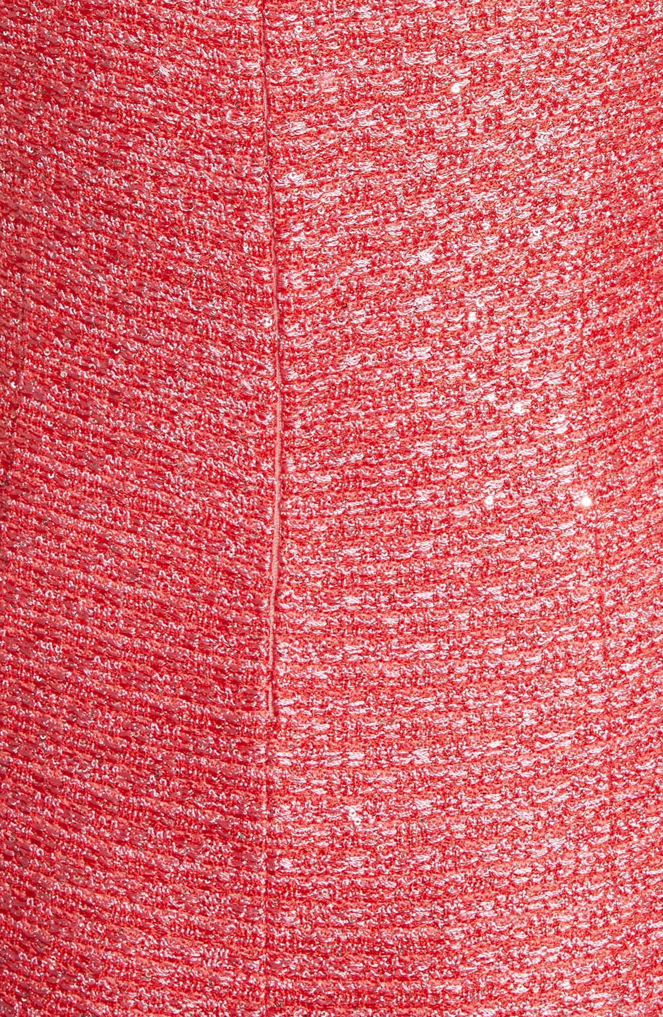 Cap Sleeve V-Neck Hansh Column Gown,                             Alternate thumbnail 5, color,                             950