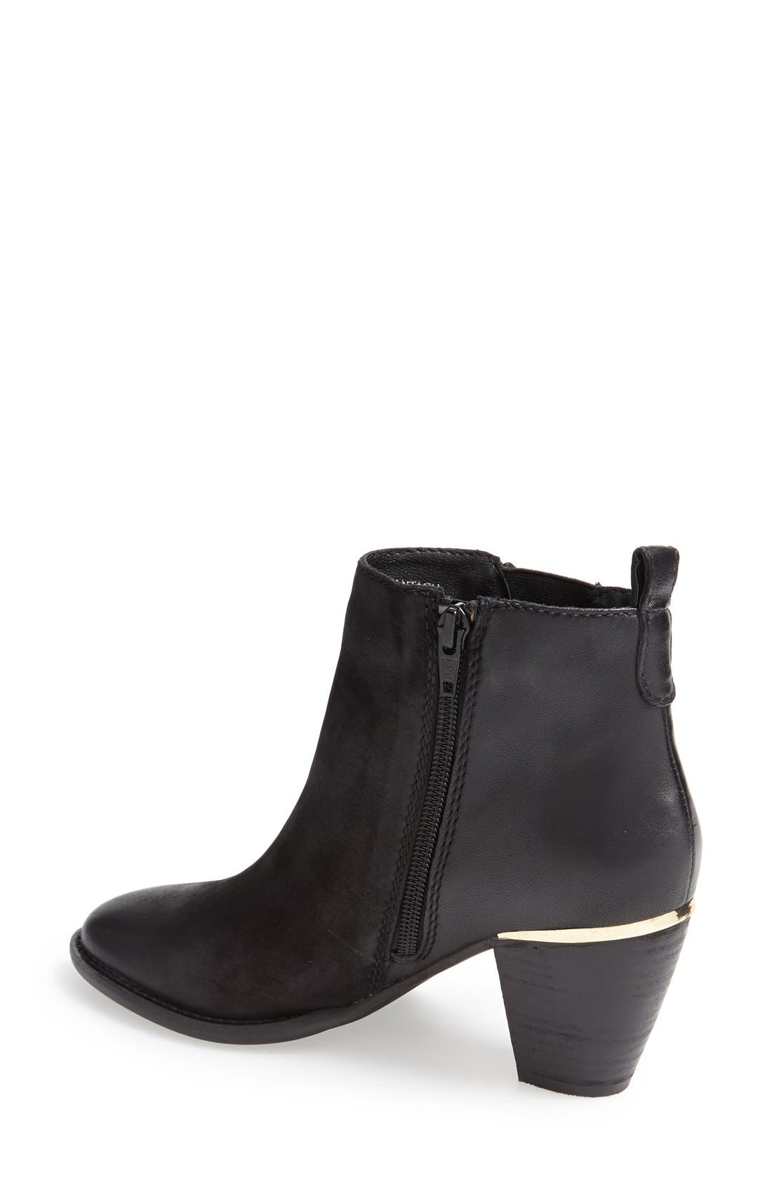 'Wantagh' Leather Ankle Boot,                             Alternate thumbnail 3, color,                             001