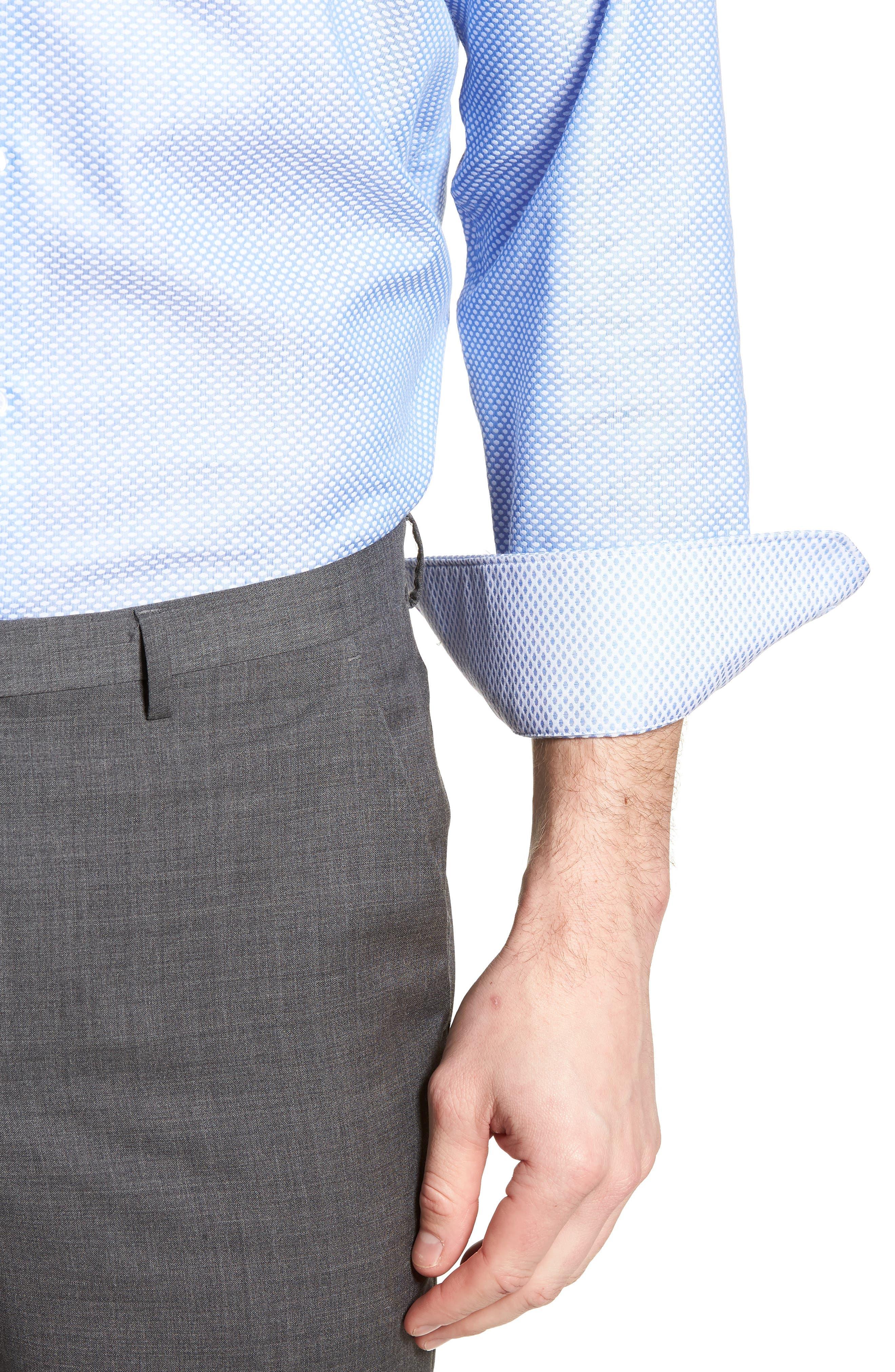 Holmes Trim Fit Dot Dress Shirt,                             Alternate thumbnail 2, color,                             450