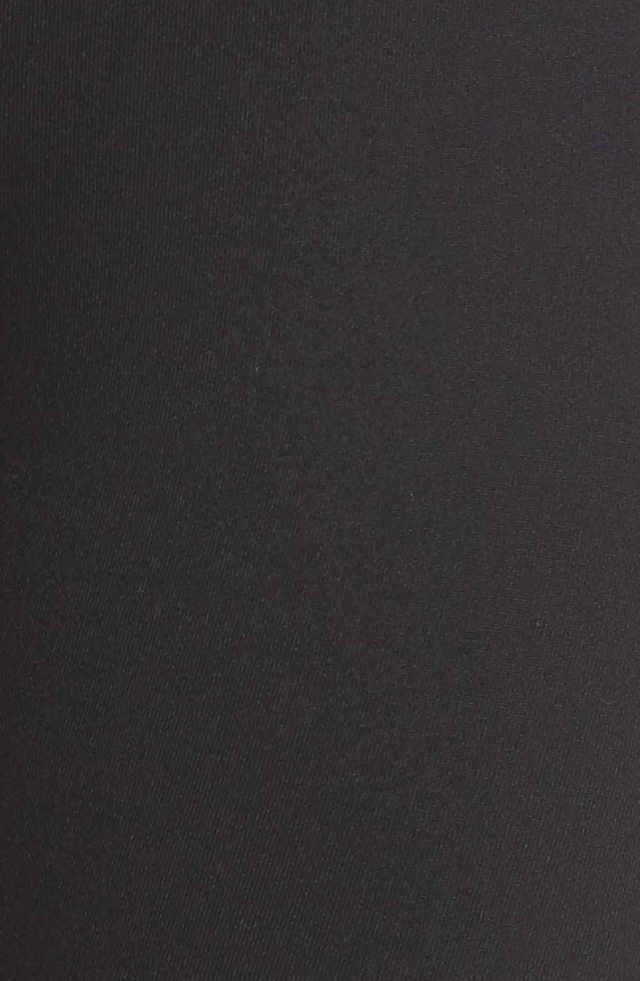 Plank High Waist Midi Leggings,                             Alternate thumbnail 6, color,                             BLACK
