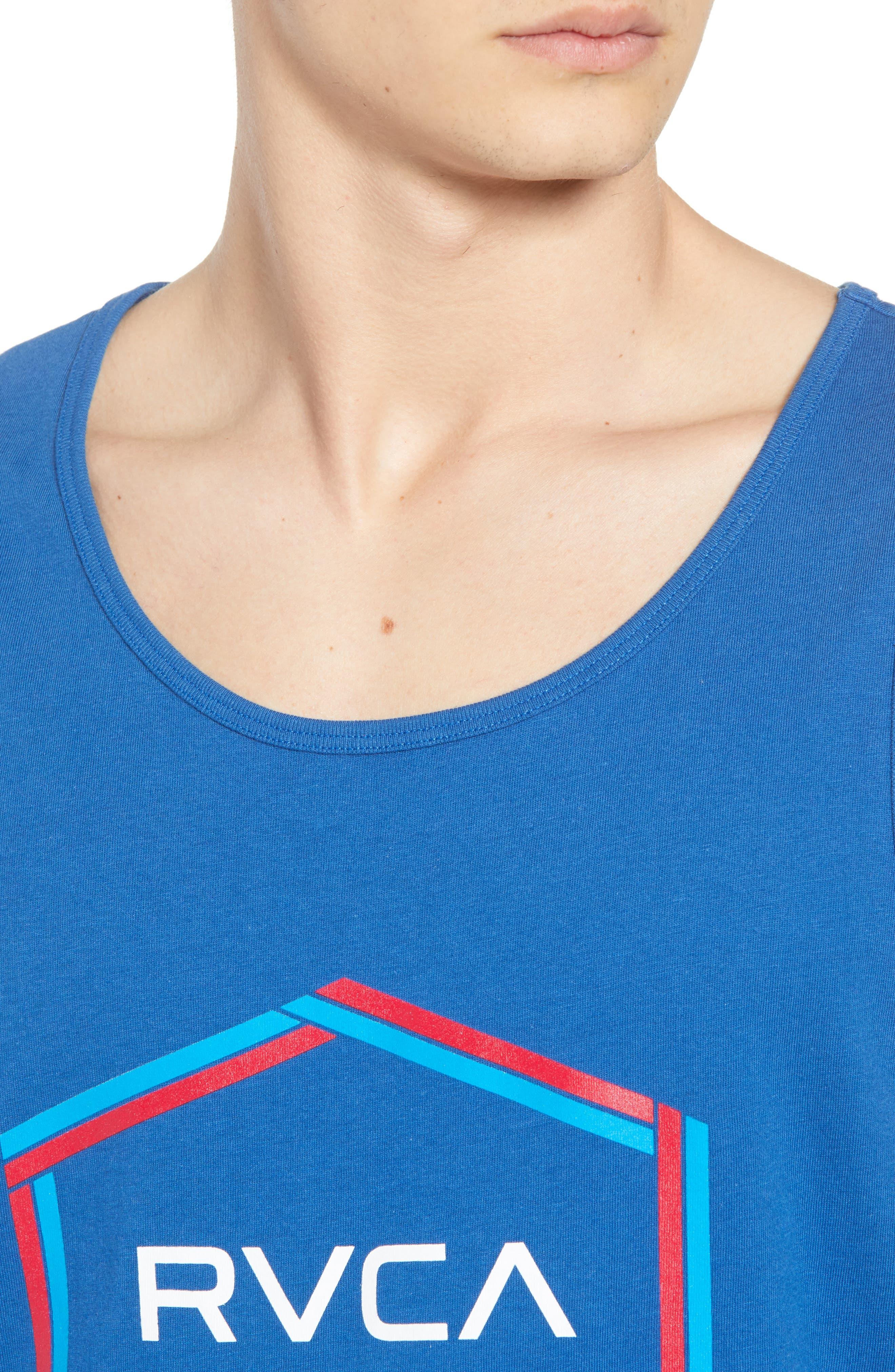 Hexest Logo Graphic Tank,                             Alternate thumbnail 4, color,                             BRIGHT BLUE