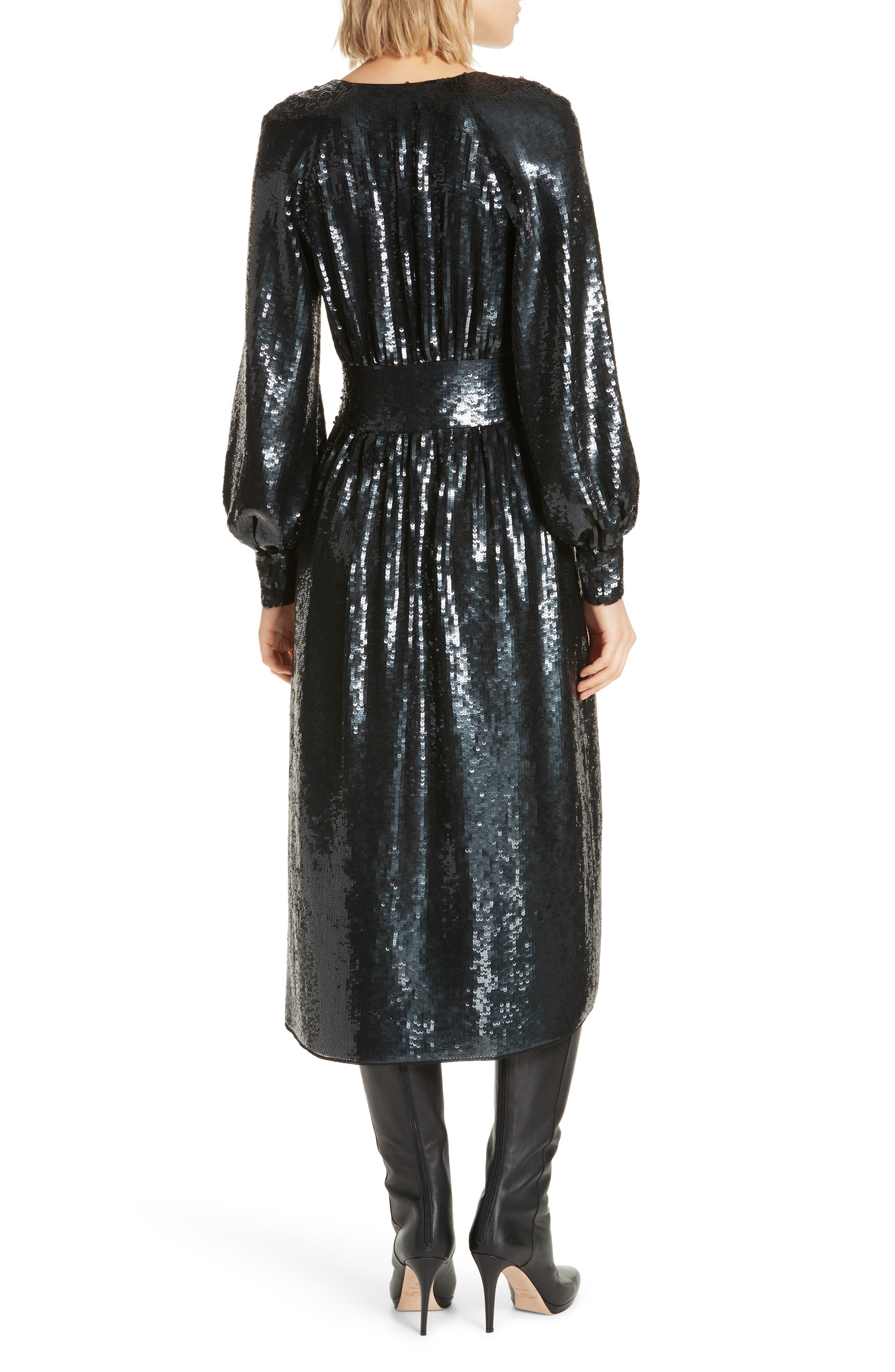 Kyria B Sequin Midi Dress,                             Alternate thumbnail 2, color,                             001