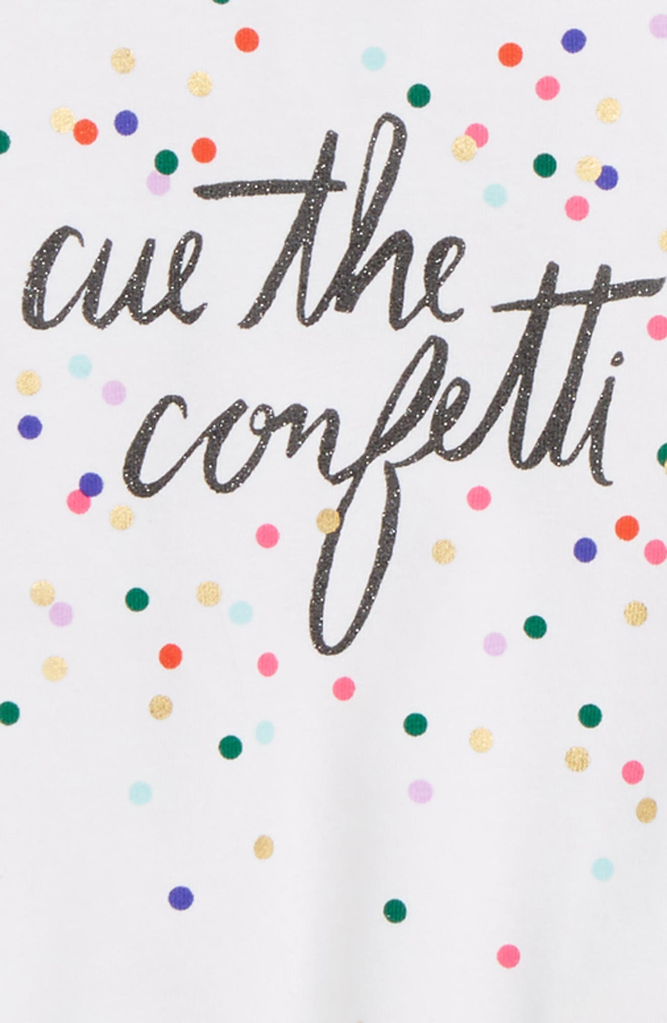 KATE SPADE NEW YORK,                             cue the confetti tee & skirt set,                             Alternate thumbnail 2, color,                             DOTTY PLAID