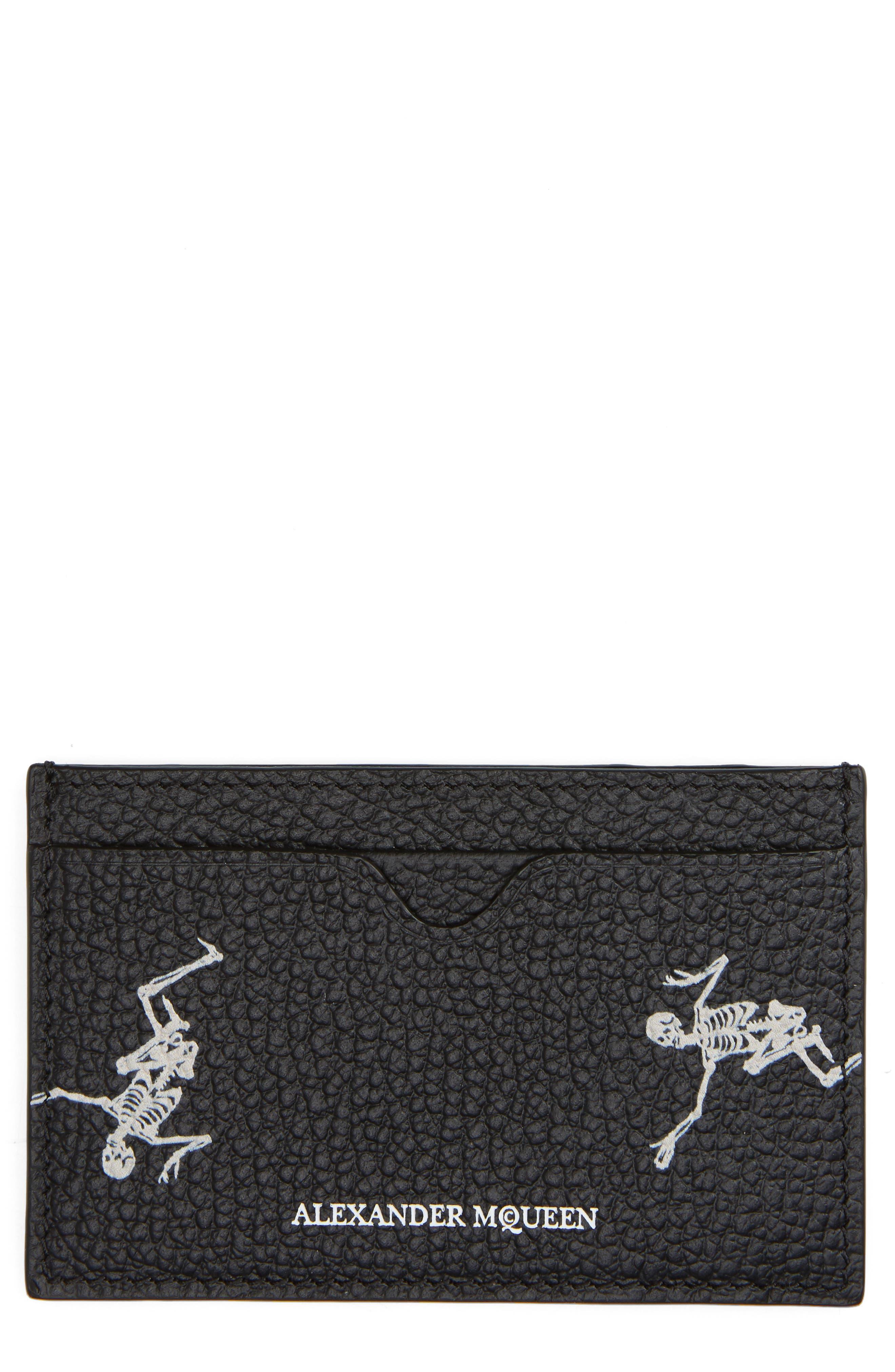 Dancing Skeleton Card Case,                             Main thumbnail 1, color,                             151