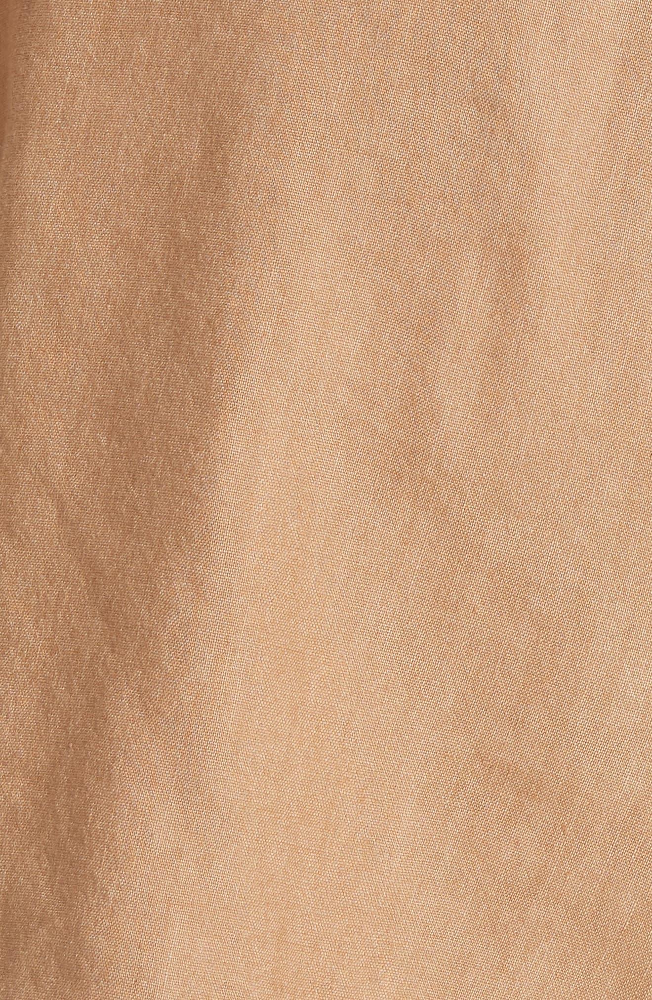 Dawson Flutter Tie Waist Linen Blend Shorts,                             Alternate thumbnail 5, color,                             276