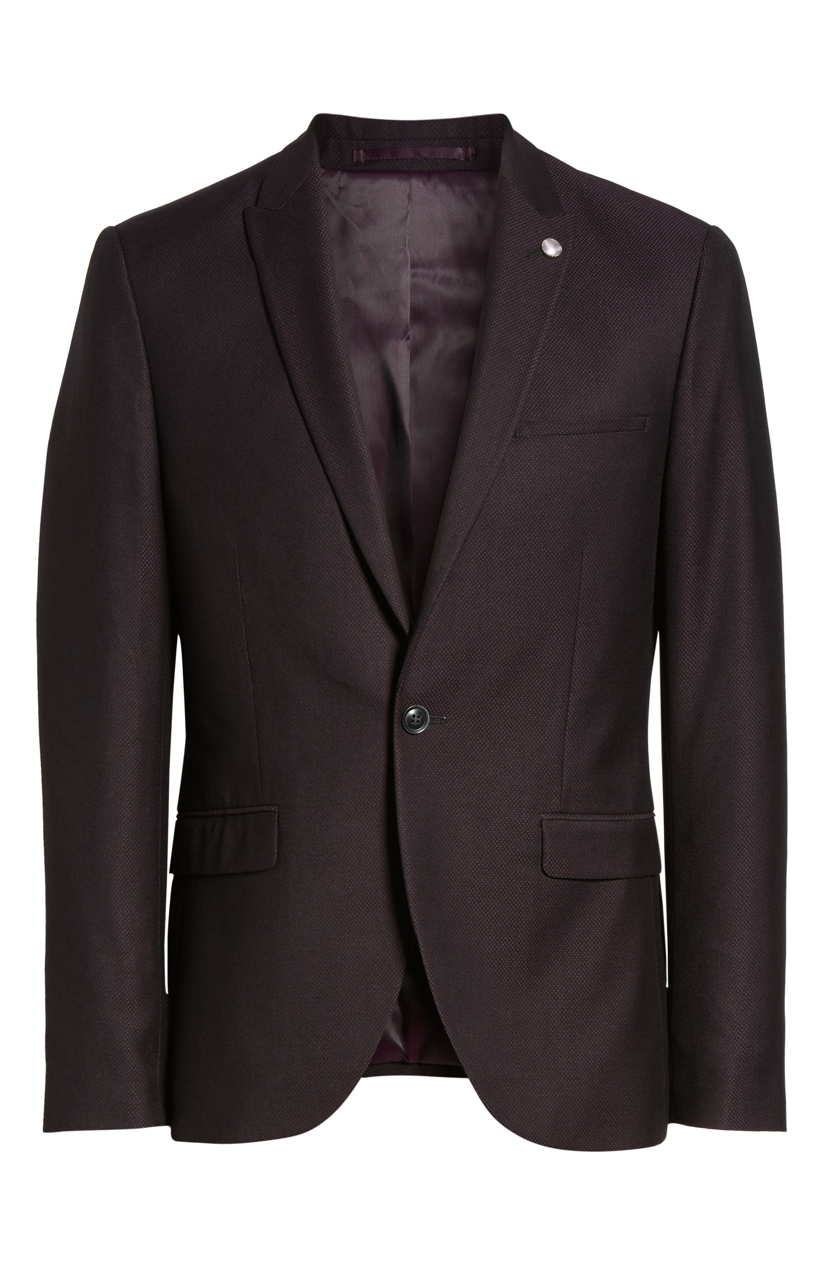 TOPMAN,                             Bicester Skinny Fit Suit Jacket,                             Alternate thumbnail 5, color,                             930
