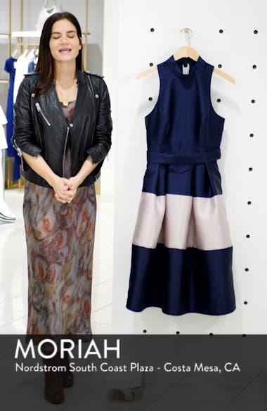 Colorblock Fit & Flare Dress, sales video thumbnail
