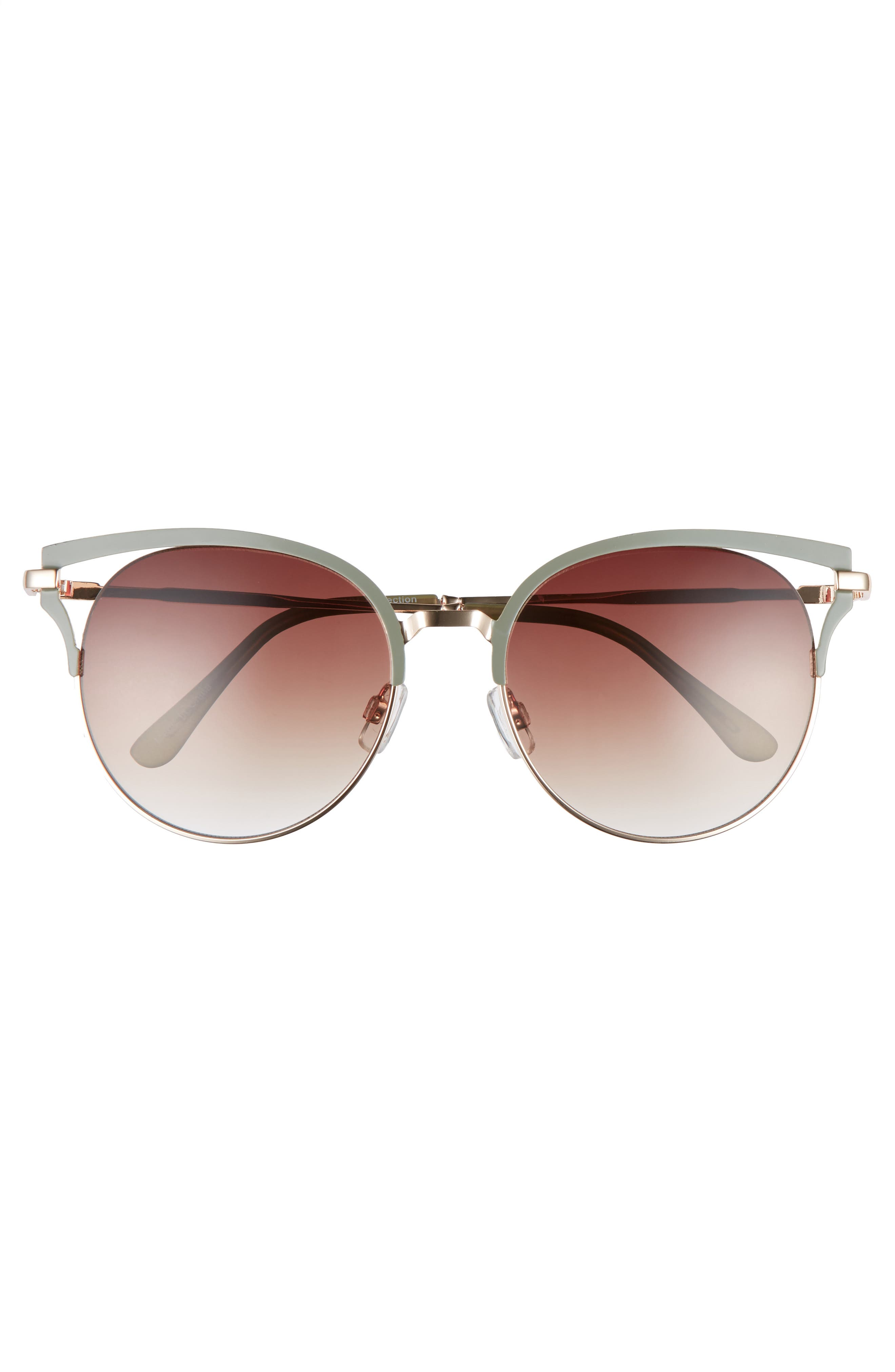 55mm Colored Round Sunglasses,                             Alternate thumbnail 3, color,                             300