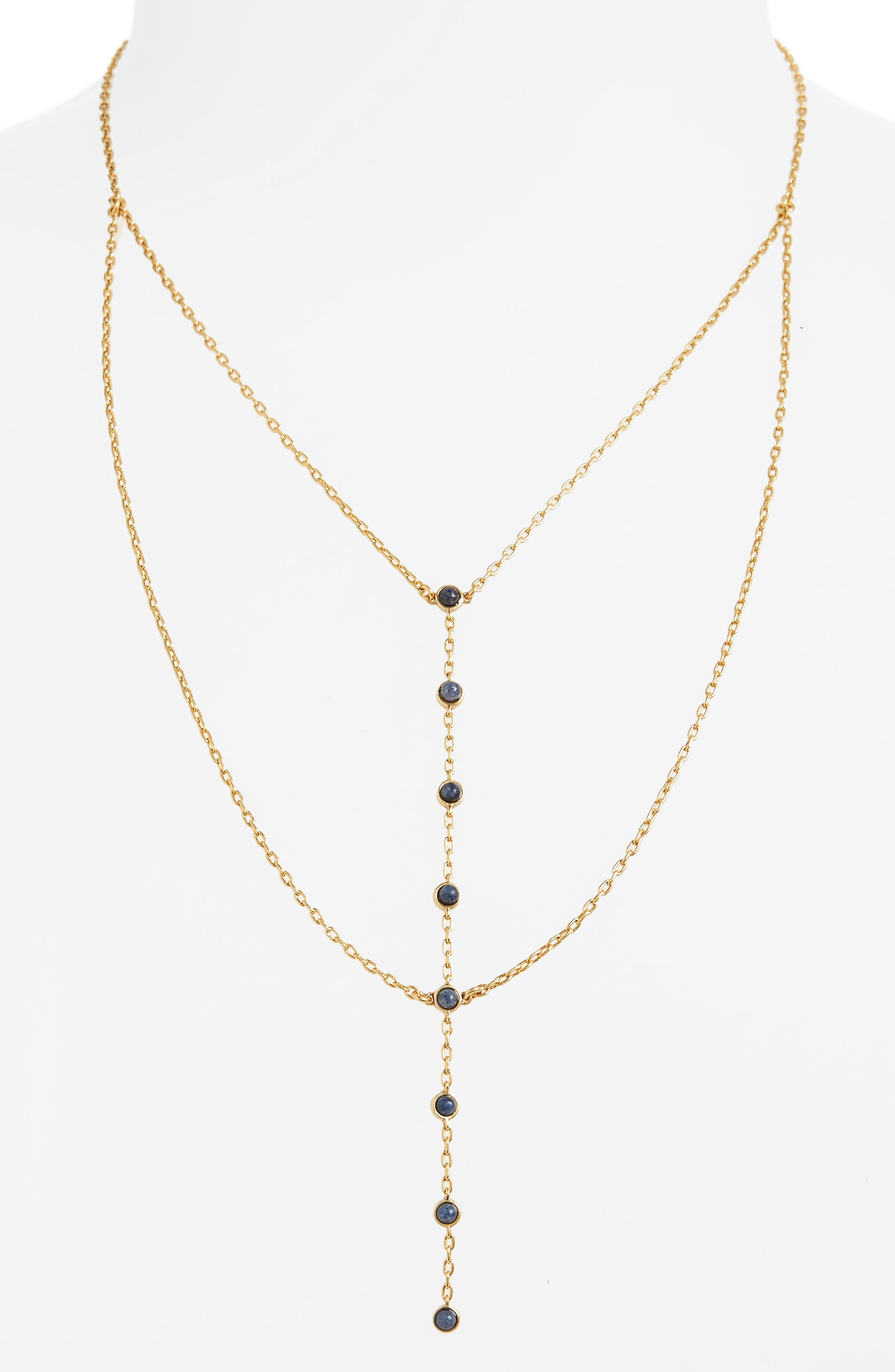 Nuit Layered Lariat Necklace,                             Alternate thumbnail 2, color,                             710