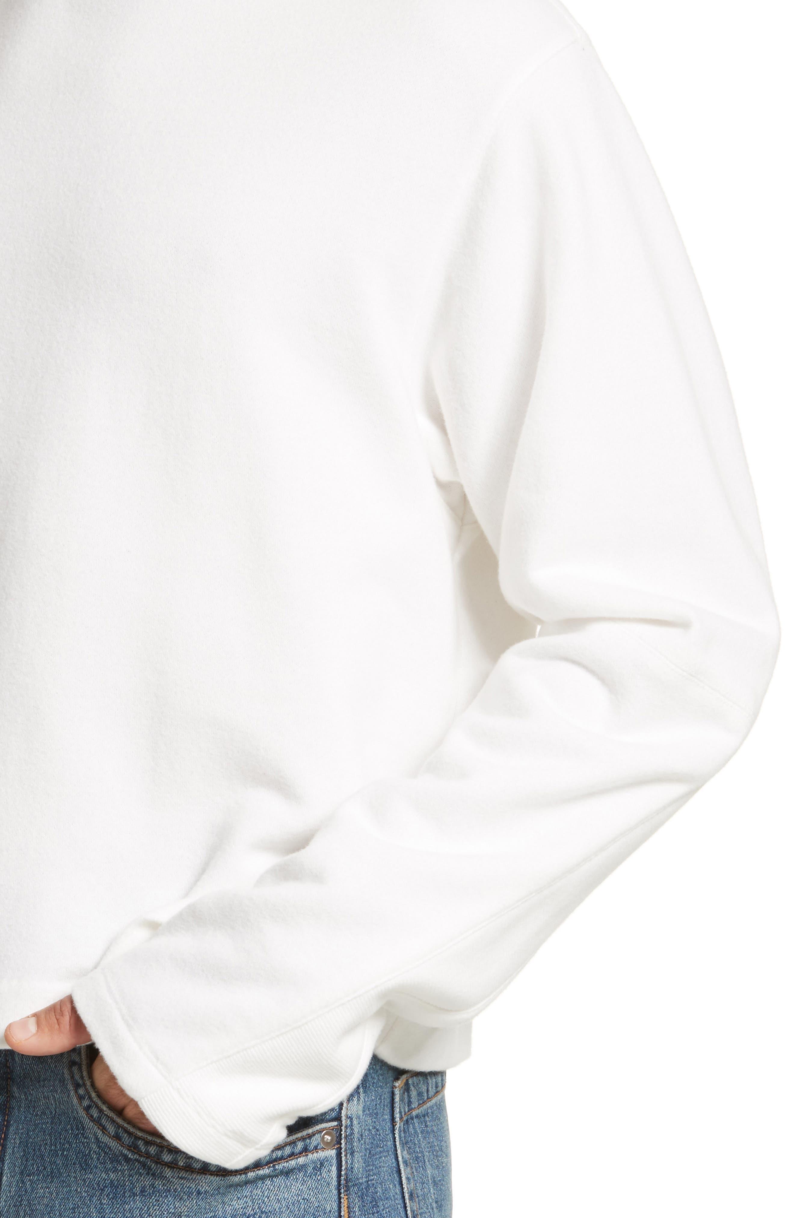 Rib Detail Crewneck Sweater,                             Alternate thumbnail 8, color,