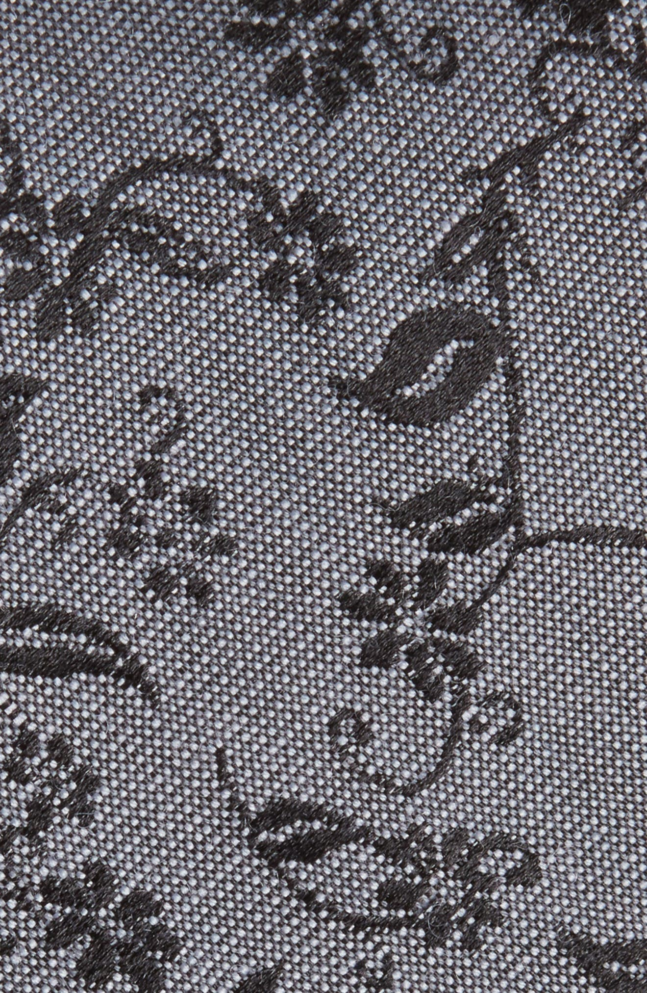 Emerson Floral Wool & Silk Tie,                             Alternate thumbnail 2, color,                             020