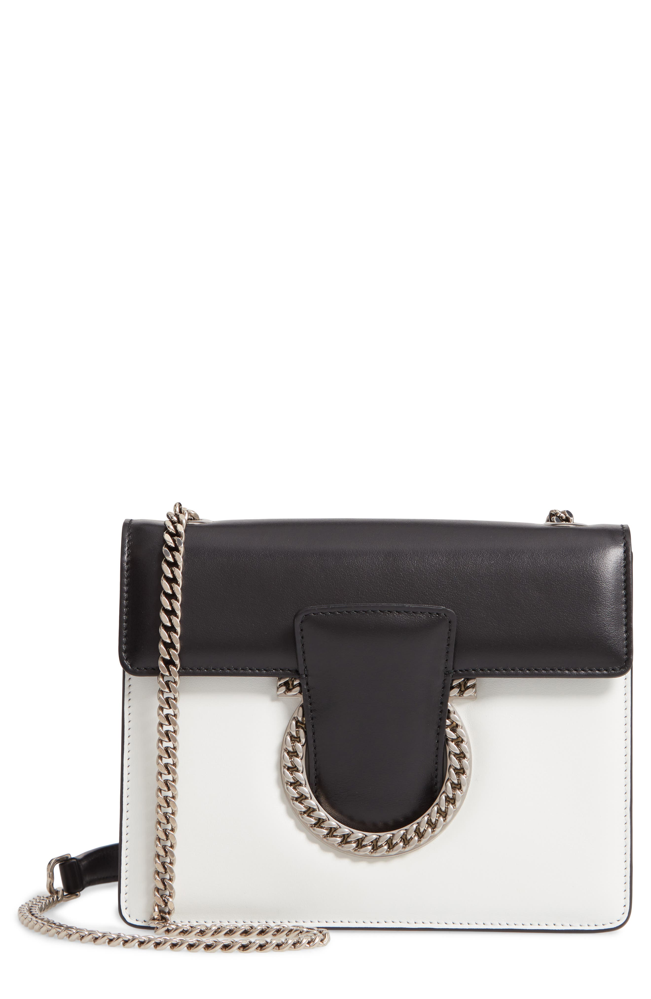 Small Thalia Leather Shoulder Bag,                             Main thumbnail 1, color,                             WHITE