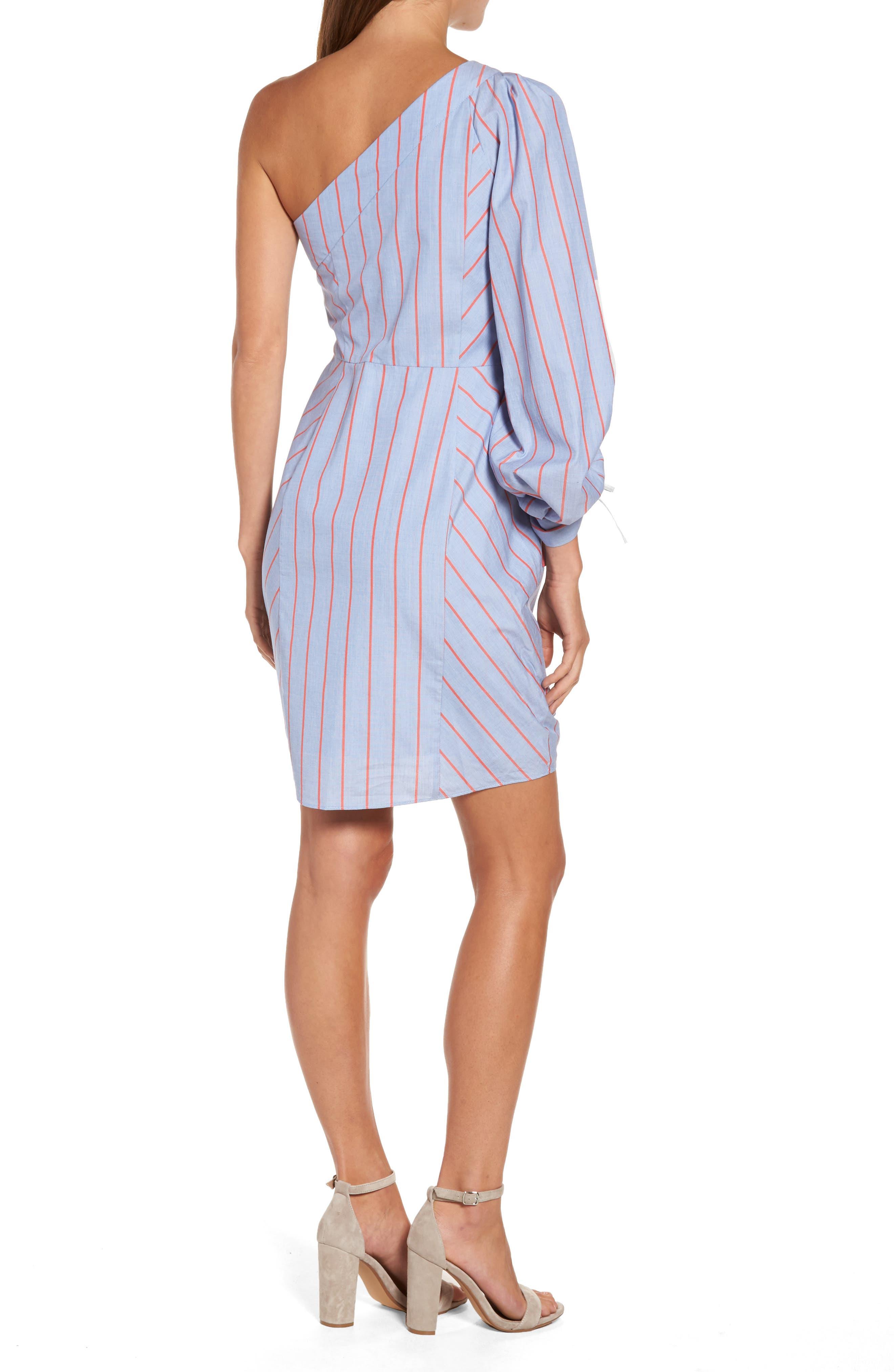 Harmond One-Shoulder Dress,                             Alternate thumbnail 2, color,                             421