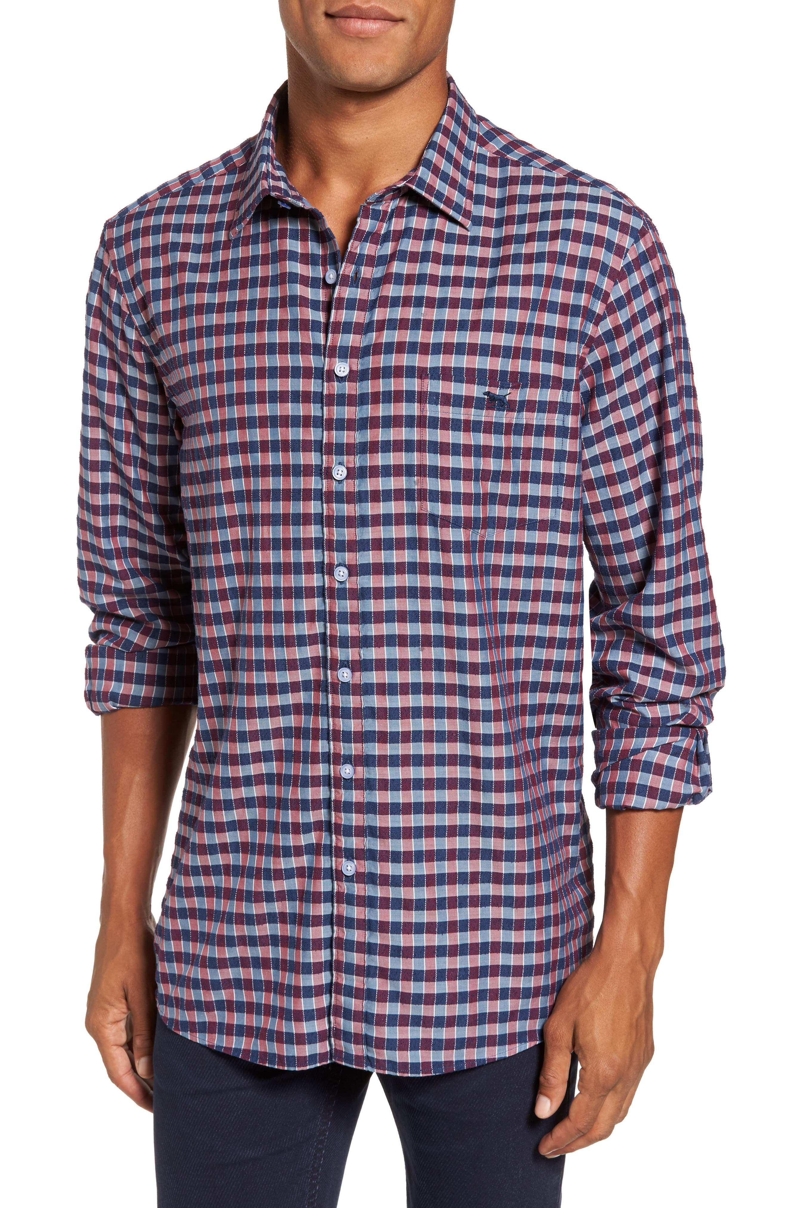 Mandeville Check Sport Shirt,                         Main,                         color, 413