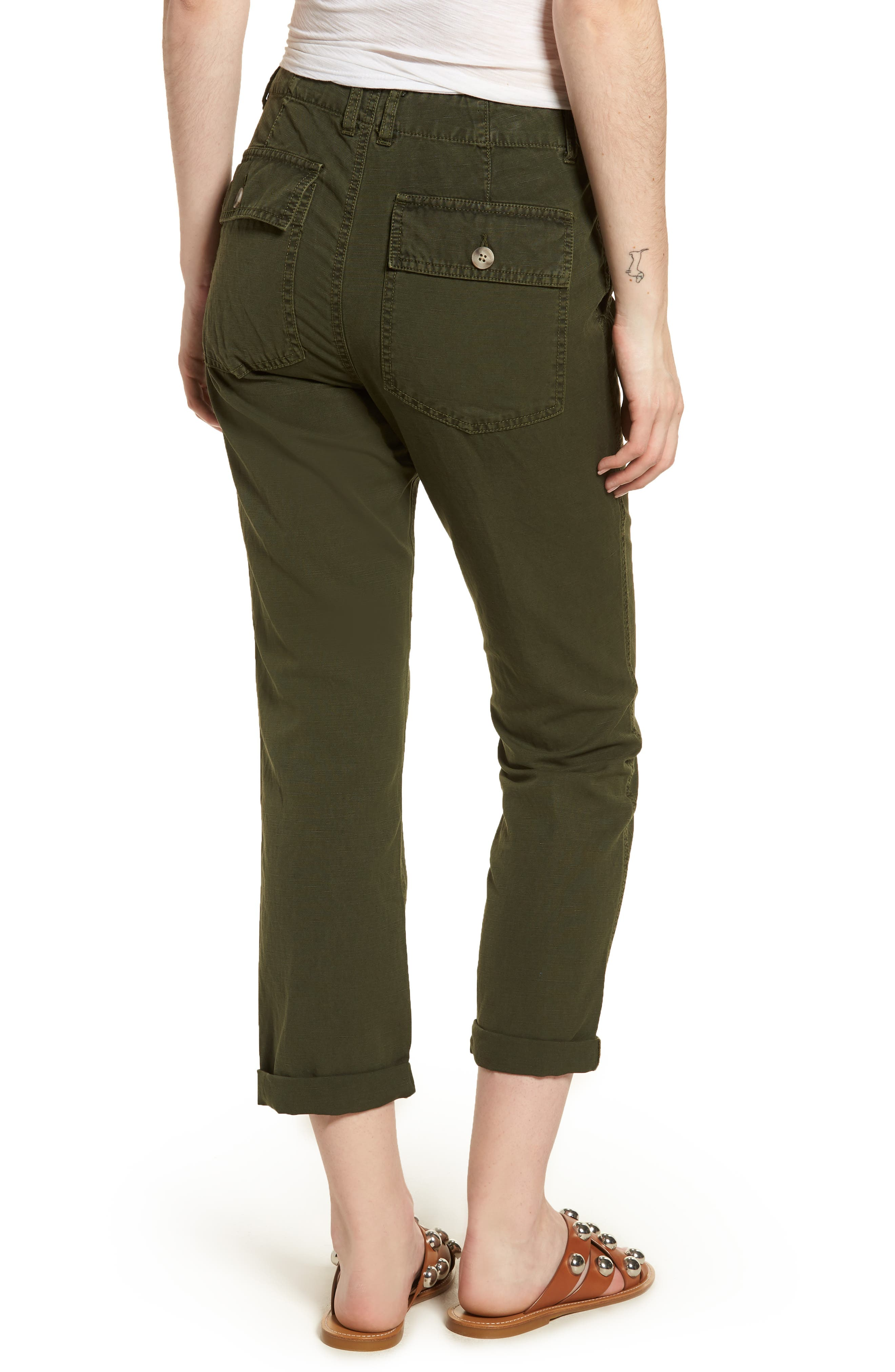 The Wes Utilitarian Relaxed Straight Pants,                             Alternate thumbnail 2, color,                             SULFUR DESERT PINE