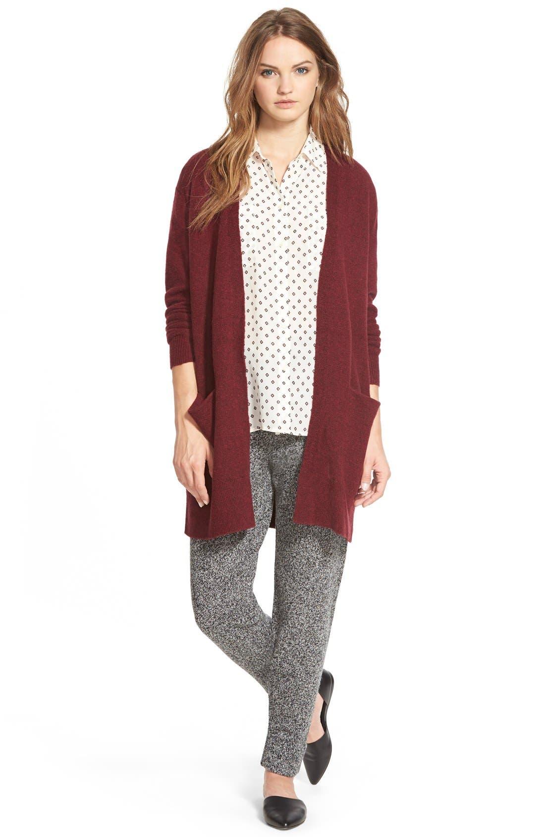 MADEWELL,                             'Foulard Dot' Silk Courier Shirt,                             Alternate thumbnail 4, color,                             900