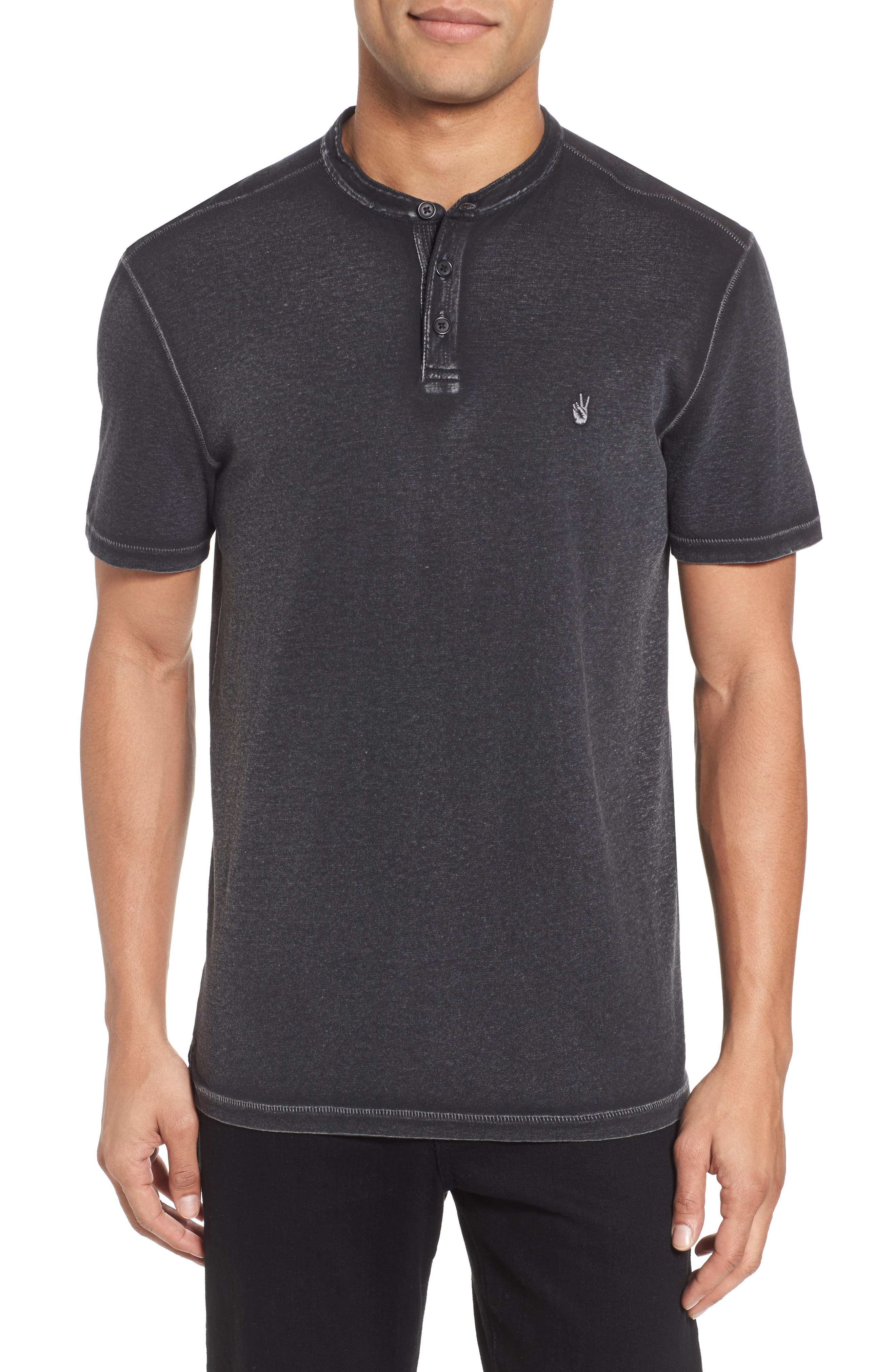 Regular Fit Cotton Henley,                             Main thumbnail 1, color,                             020